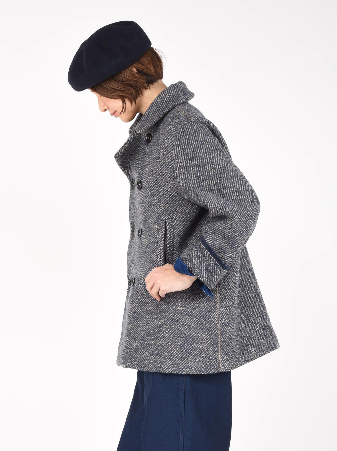 Denim Tweed Knit Coat-4