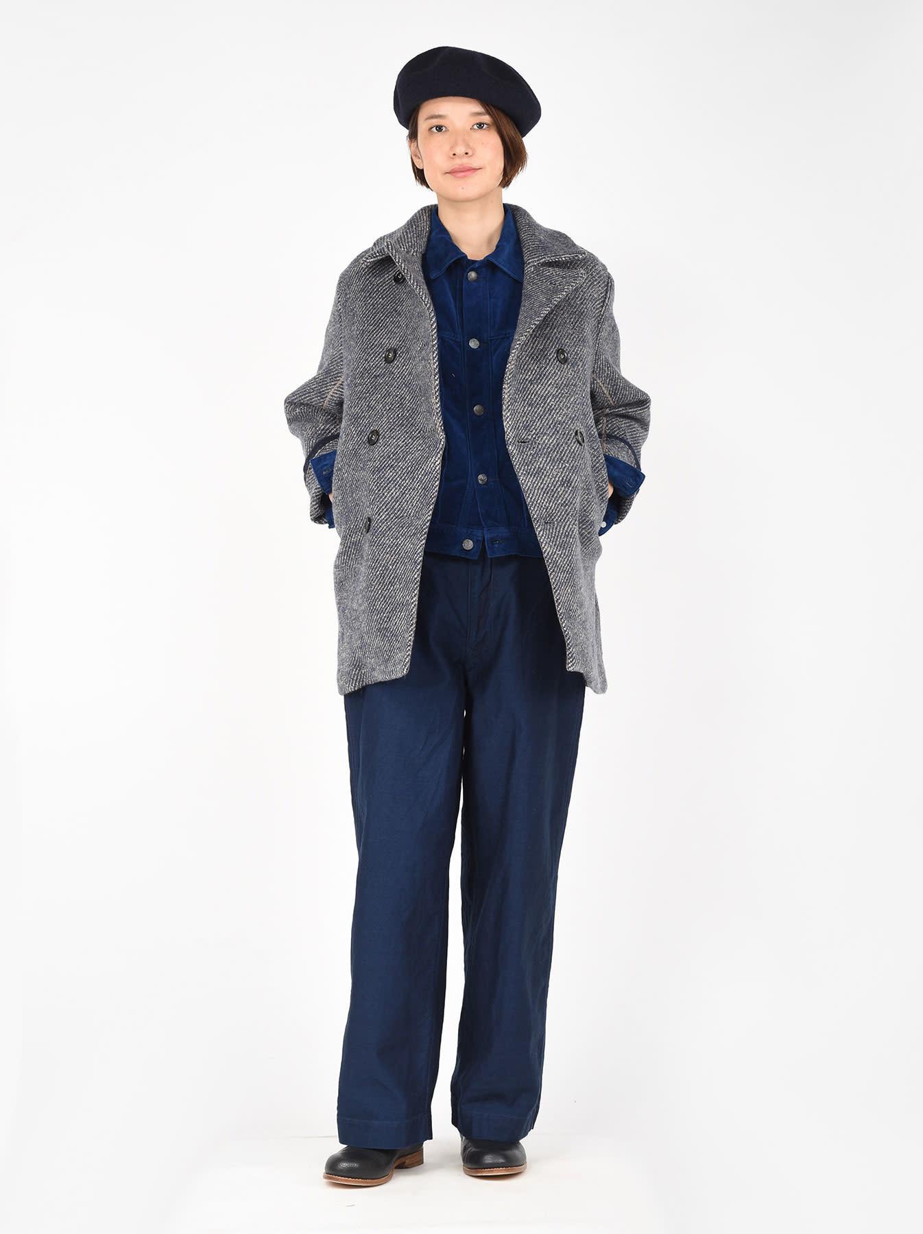 Denim Tweed Knit Coat-2