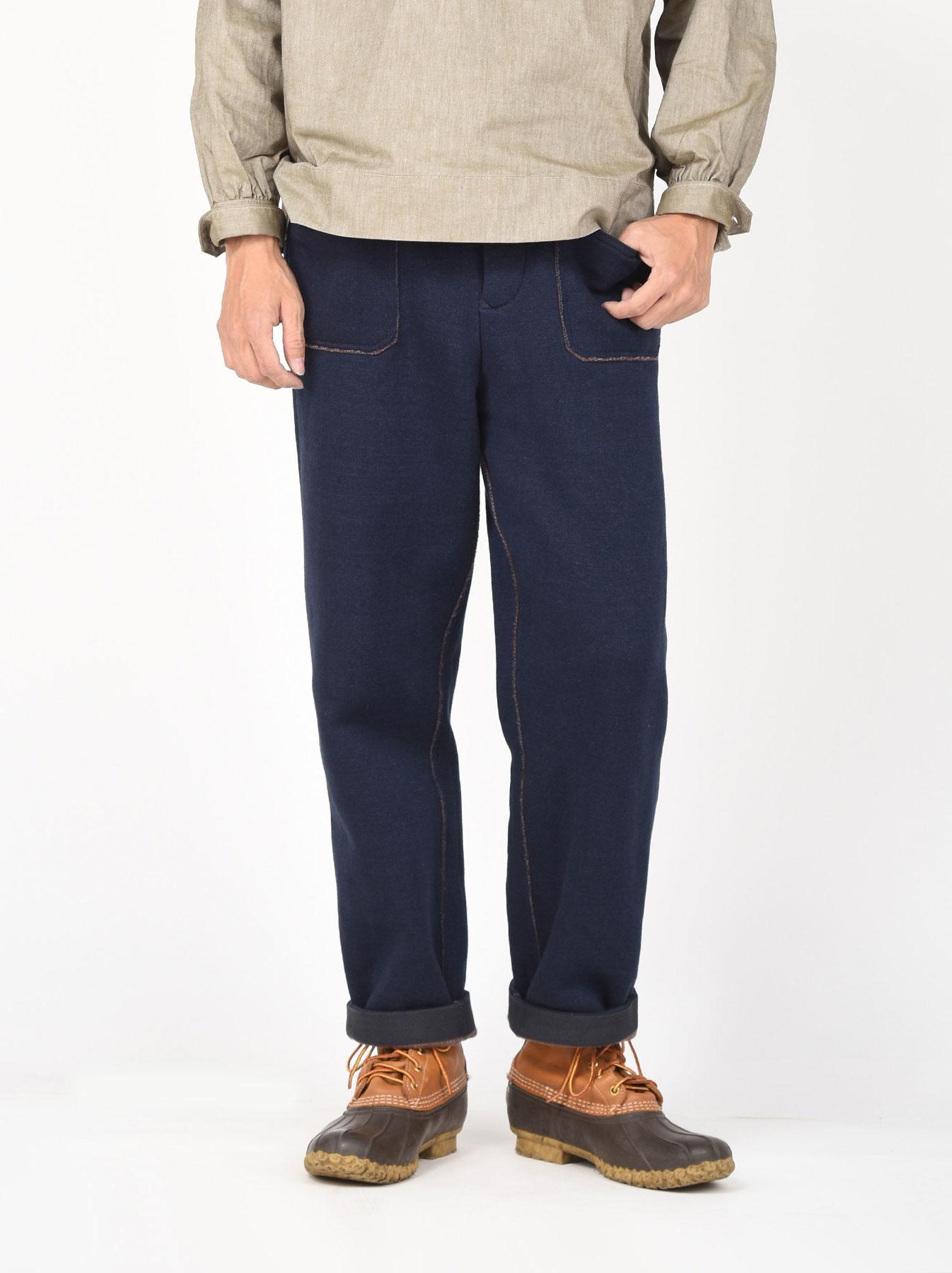 Indigo Hokkaido Fleecy Easy Pants-3