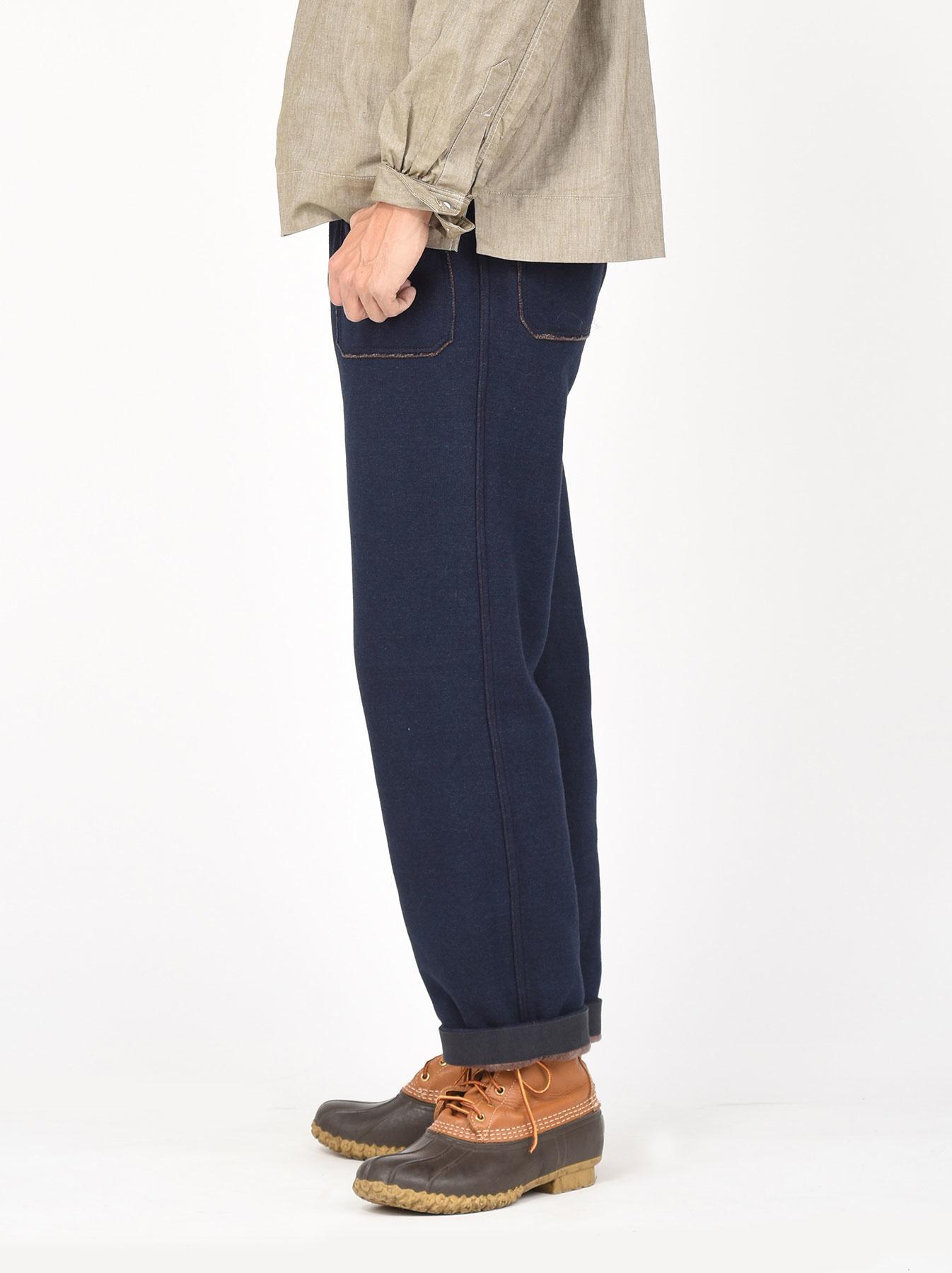 Indigo Hokkaido Fleecy Easy Pants-4