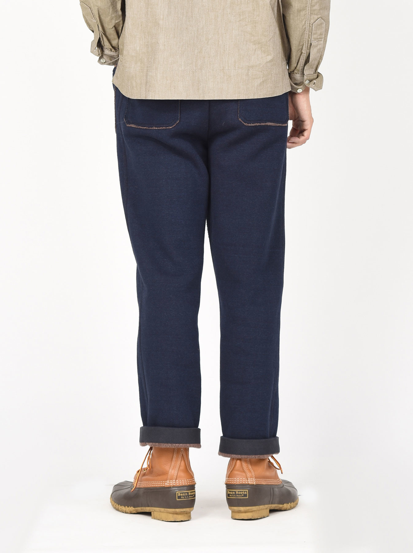 Indigo Hokkaido Fleecy Easy Pants-5