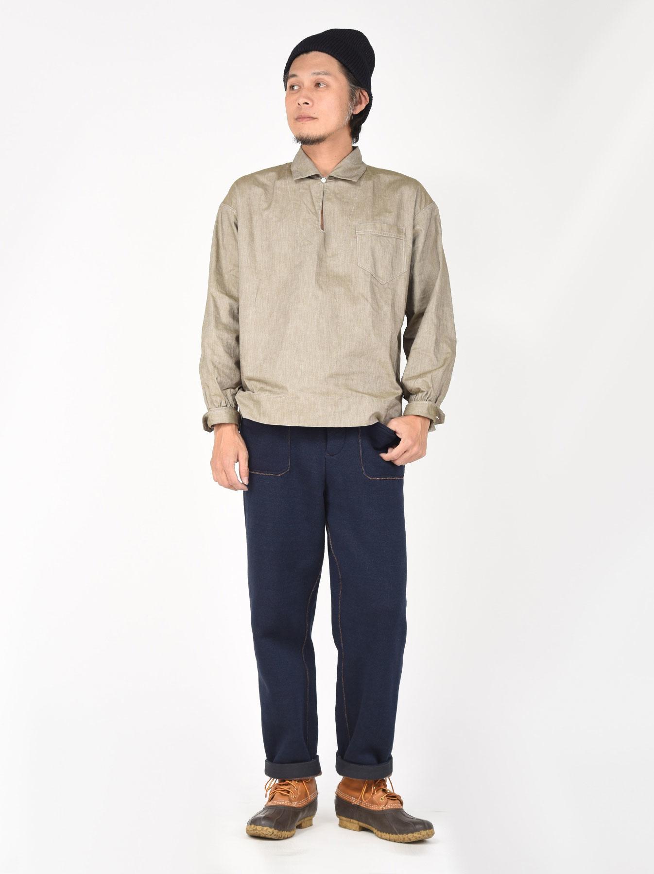 Indigo Hokkaido Fleecy Easy Pants-2