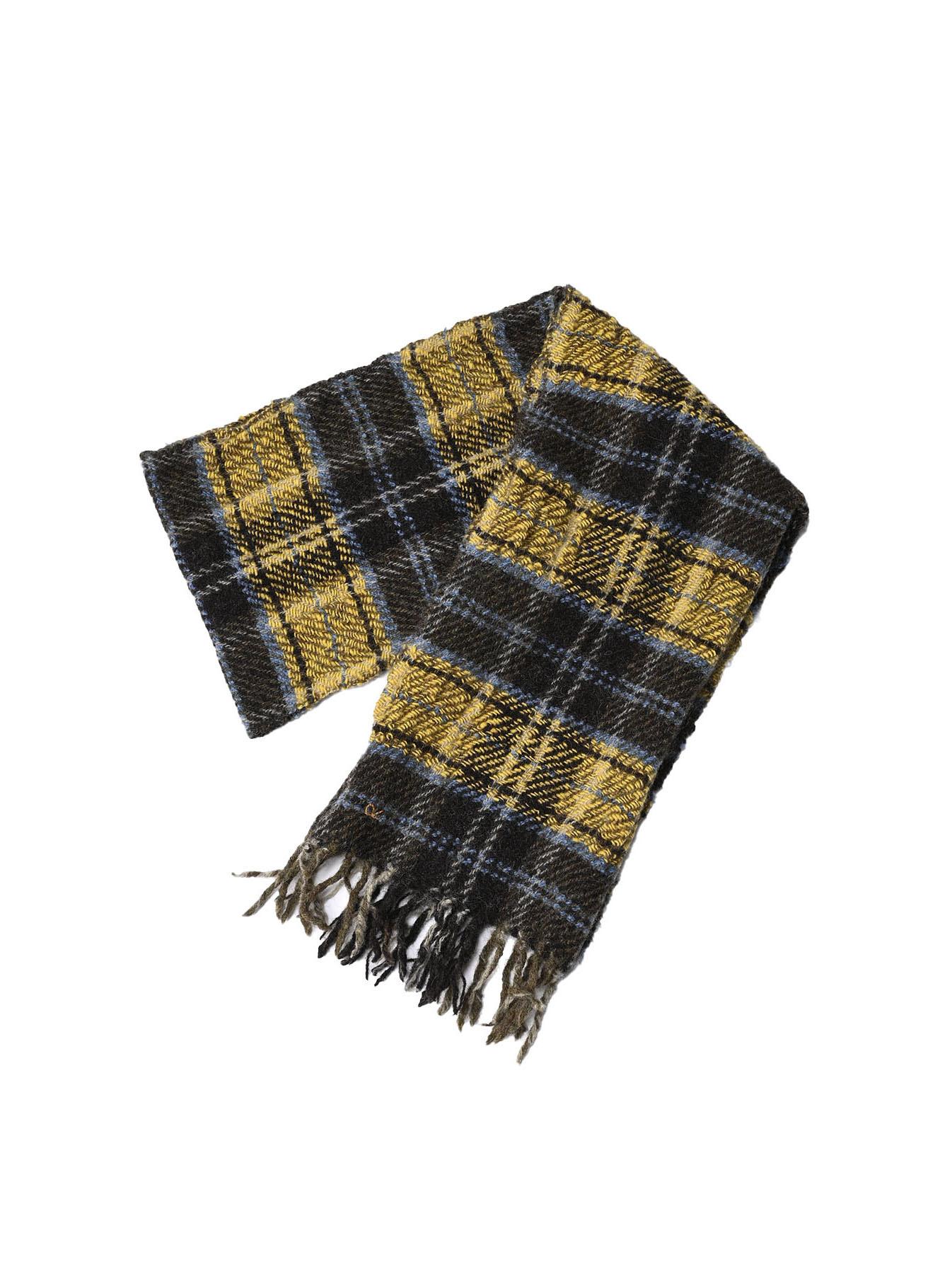 Shetland Tartan Check Muffler-2