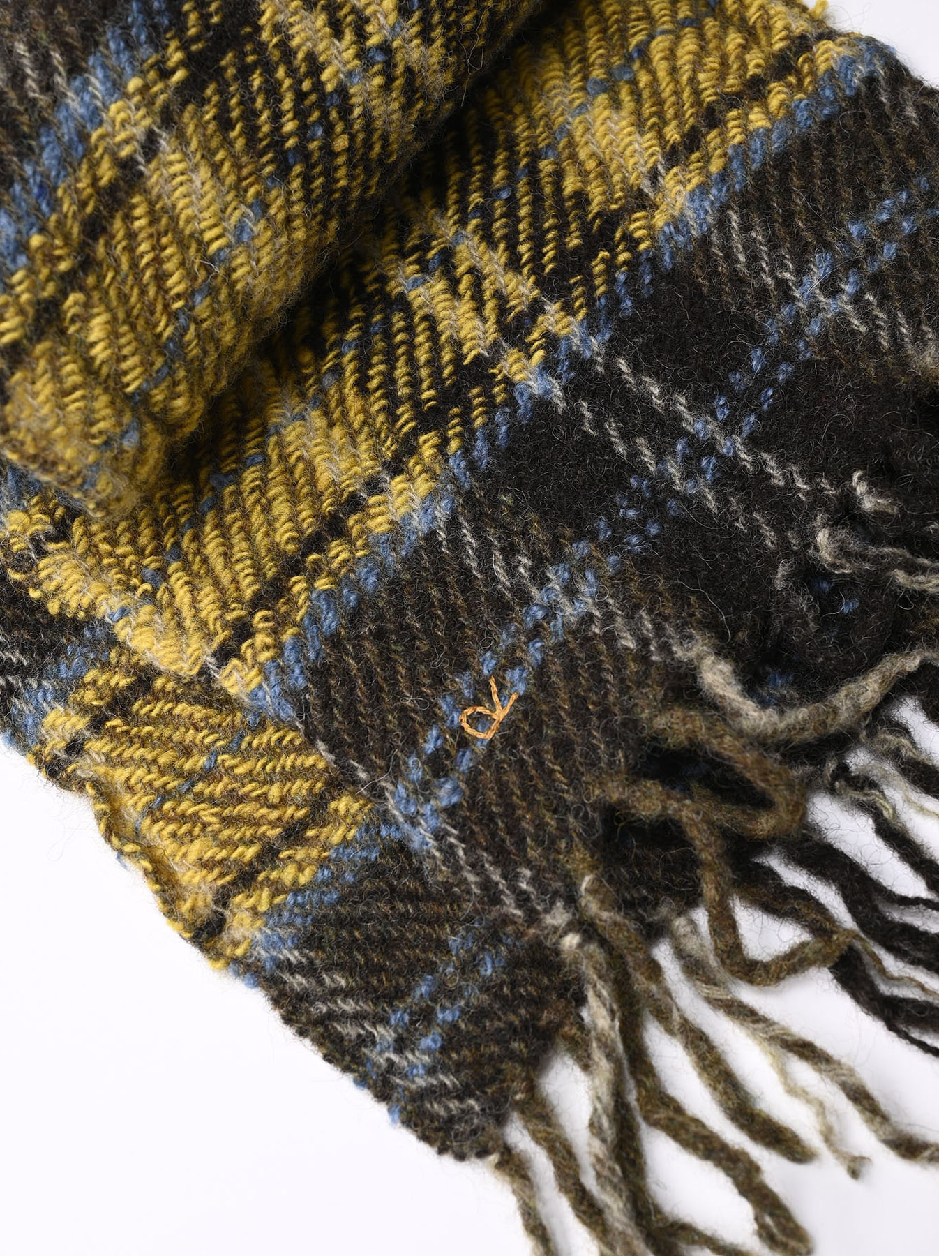 Shetland Tartan Check Muffler-3