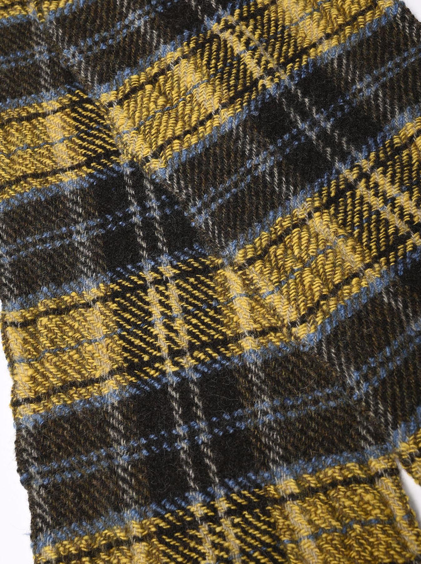 Shetland Tartan Check Muffler-4