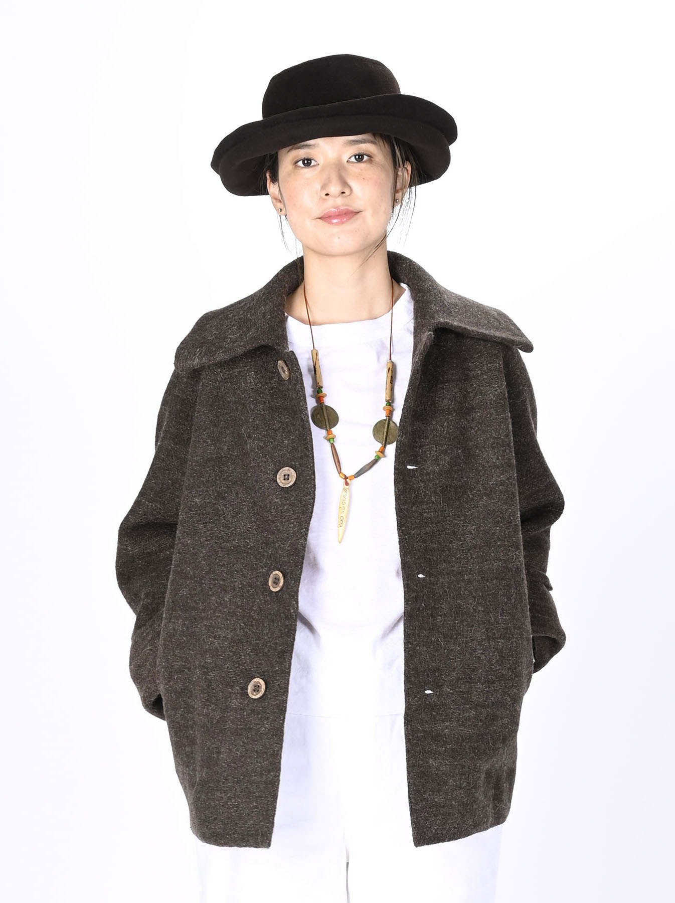 Boiled Wool Knit Coverall-10
