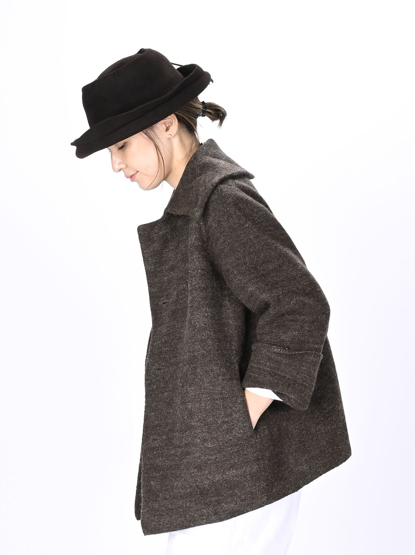 Boiled Wool Knit Coverall-11
