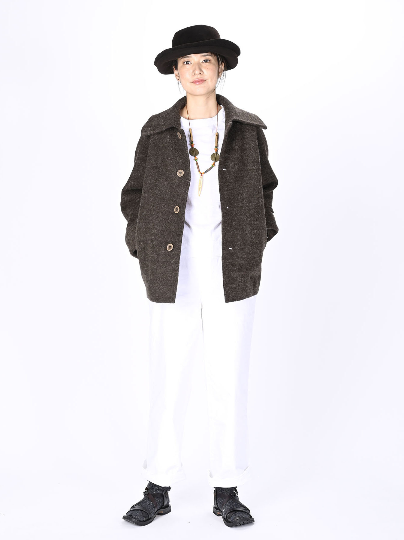 Boiled Wool Knit Coverall-2