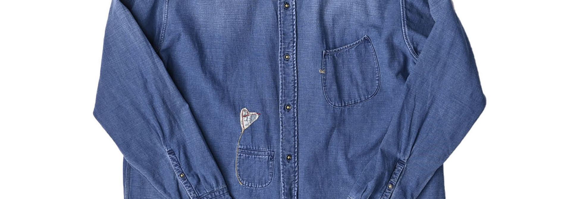 Goma Denim Ocean Button Down Shirt