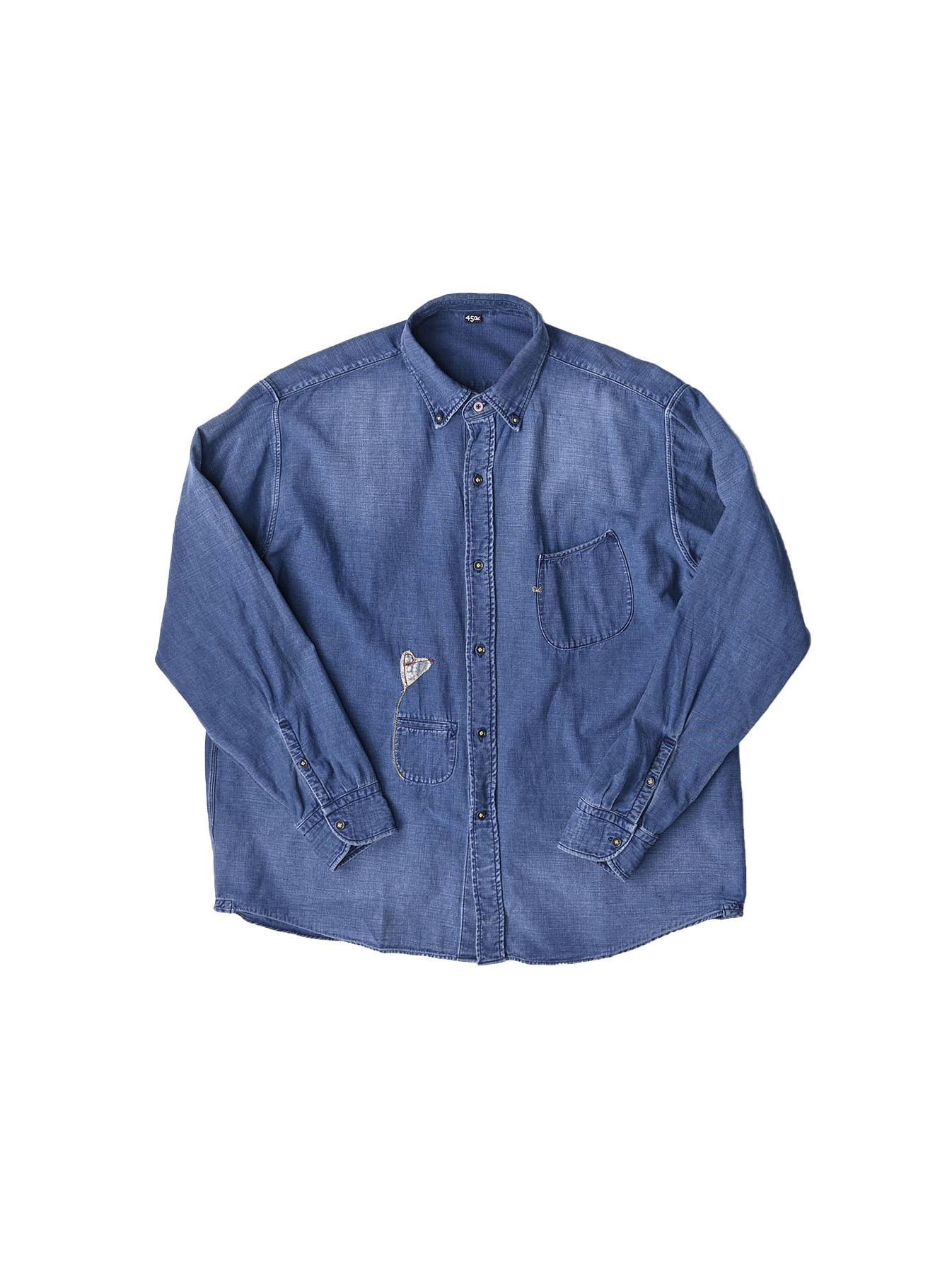 Goma Denim Ocean Button Down Shirt-1