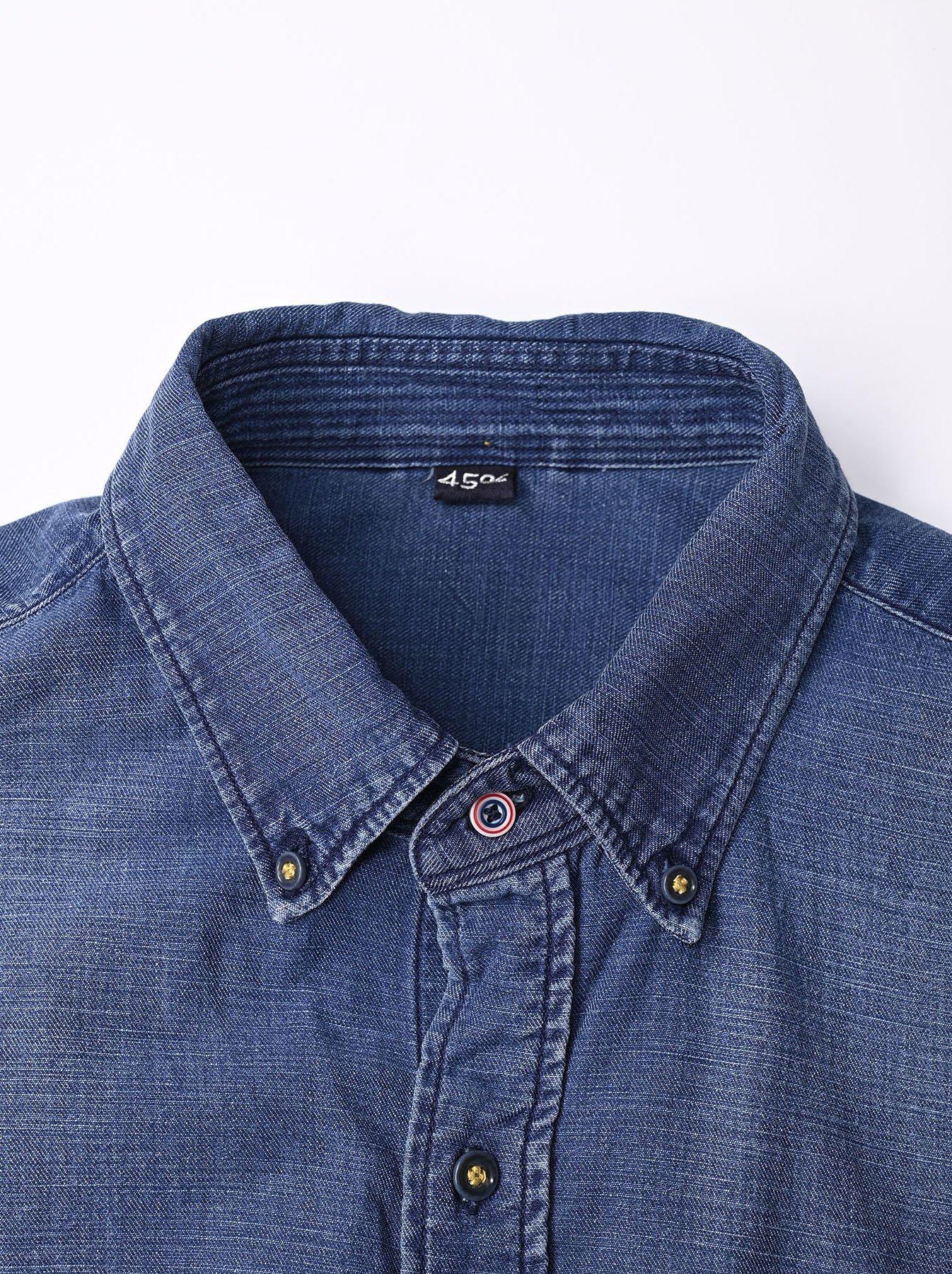 Goma Denim Ocean Button Down Shirt-7