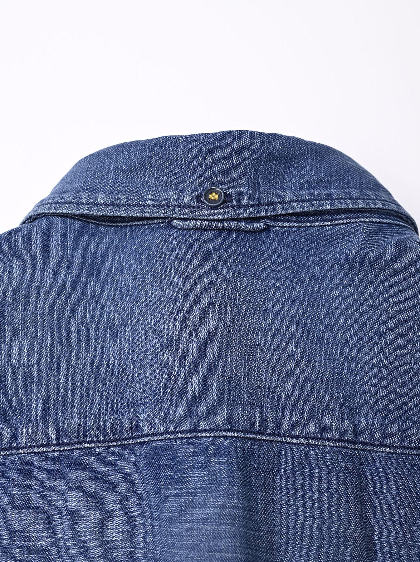 Goma Denim Ocean Button Down Shirt-8