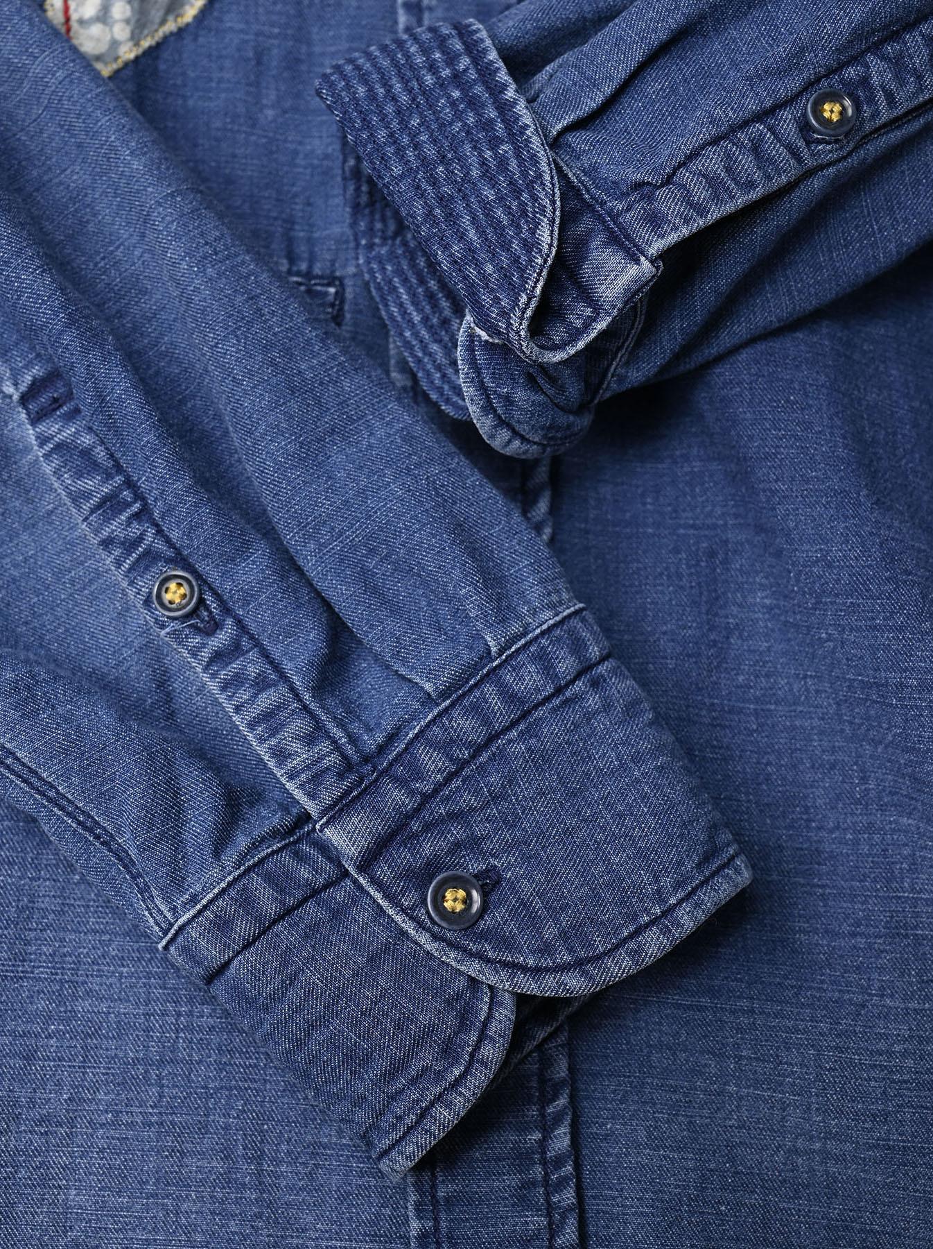 Goma Denim Ocean Button Down Shirt-11
