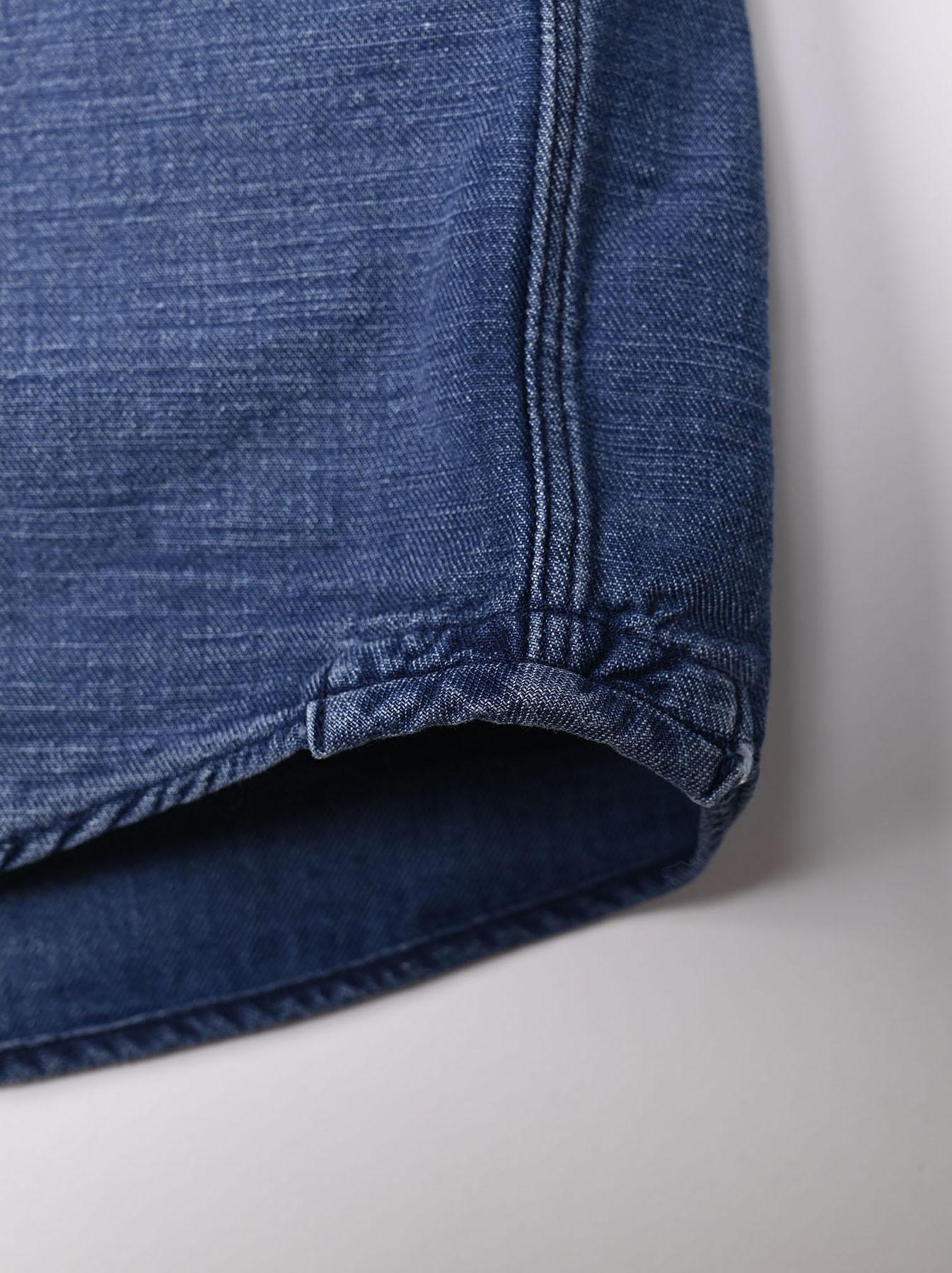 Goma Denim Ocean Button Down Shirt-12