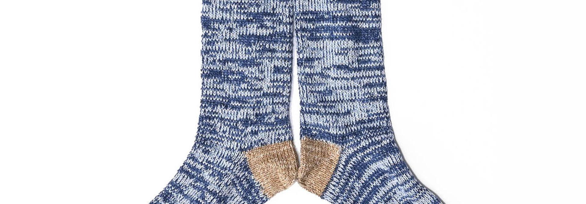 Indigo Mokumoku Socks