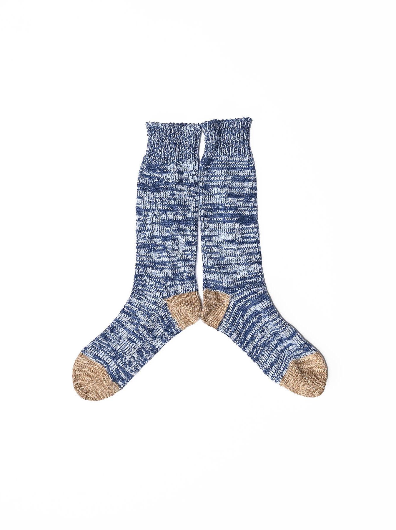 Indigo Mokumoku Socks-1