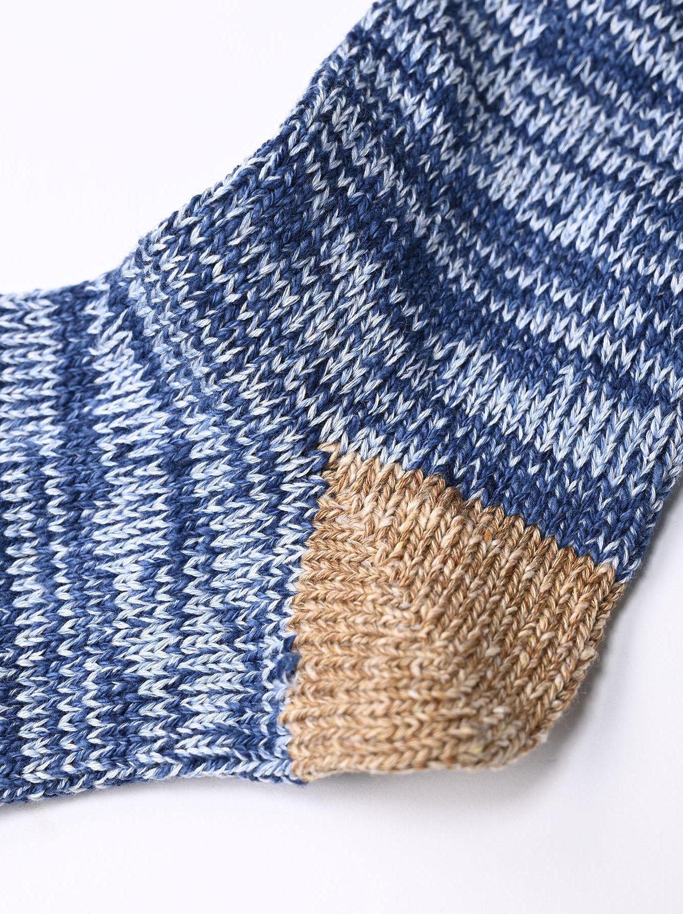 Indigo Mokumoku Socks-4