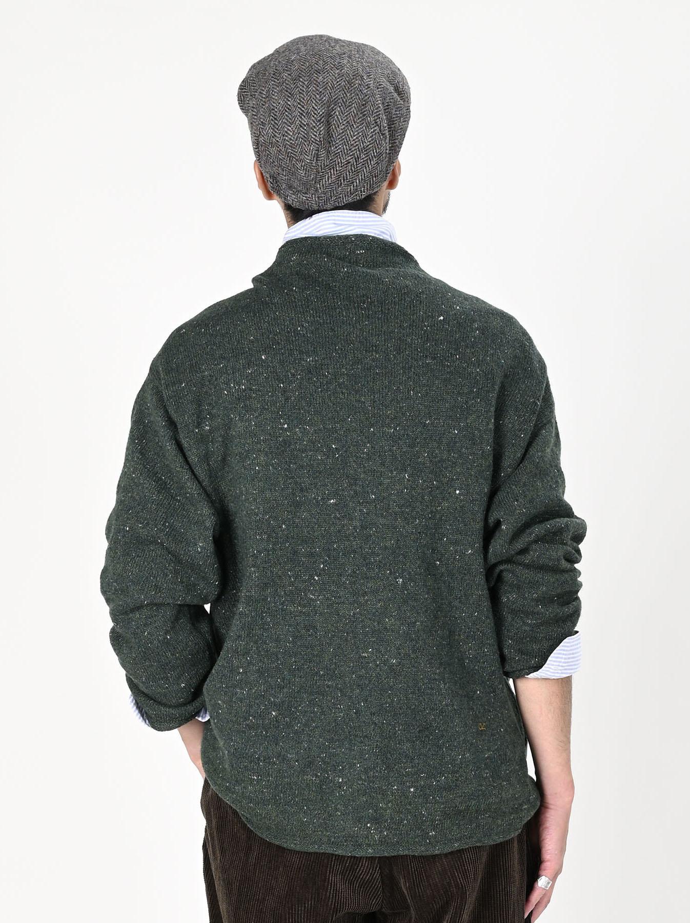 Cotton Shetland Knit-sew Mockneck Sweater-8