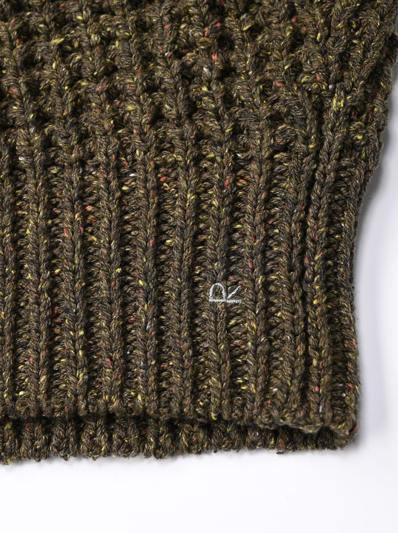 Cotton Knit-sew Big Waffle Sweater-9