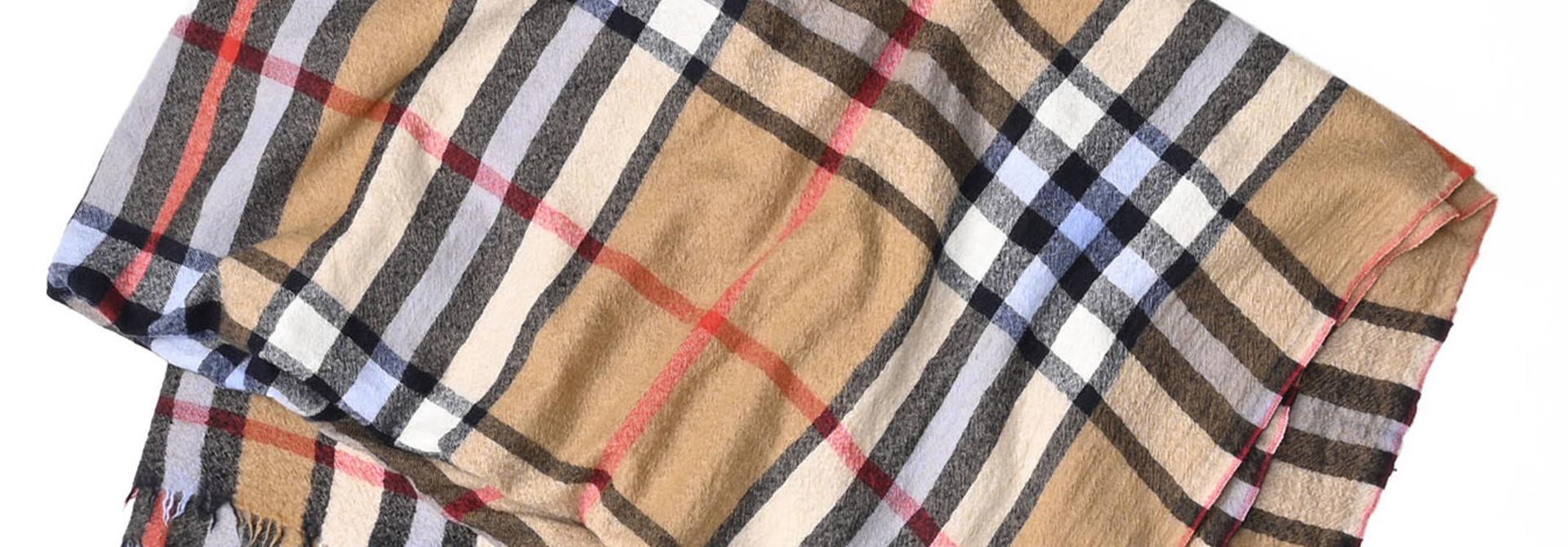 Indian Merino Cashmere Tartan Stole