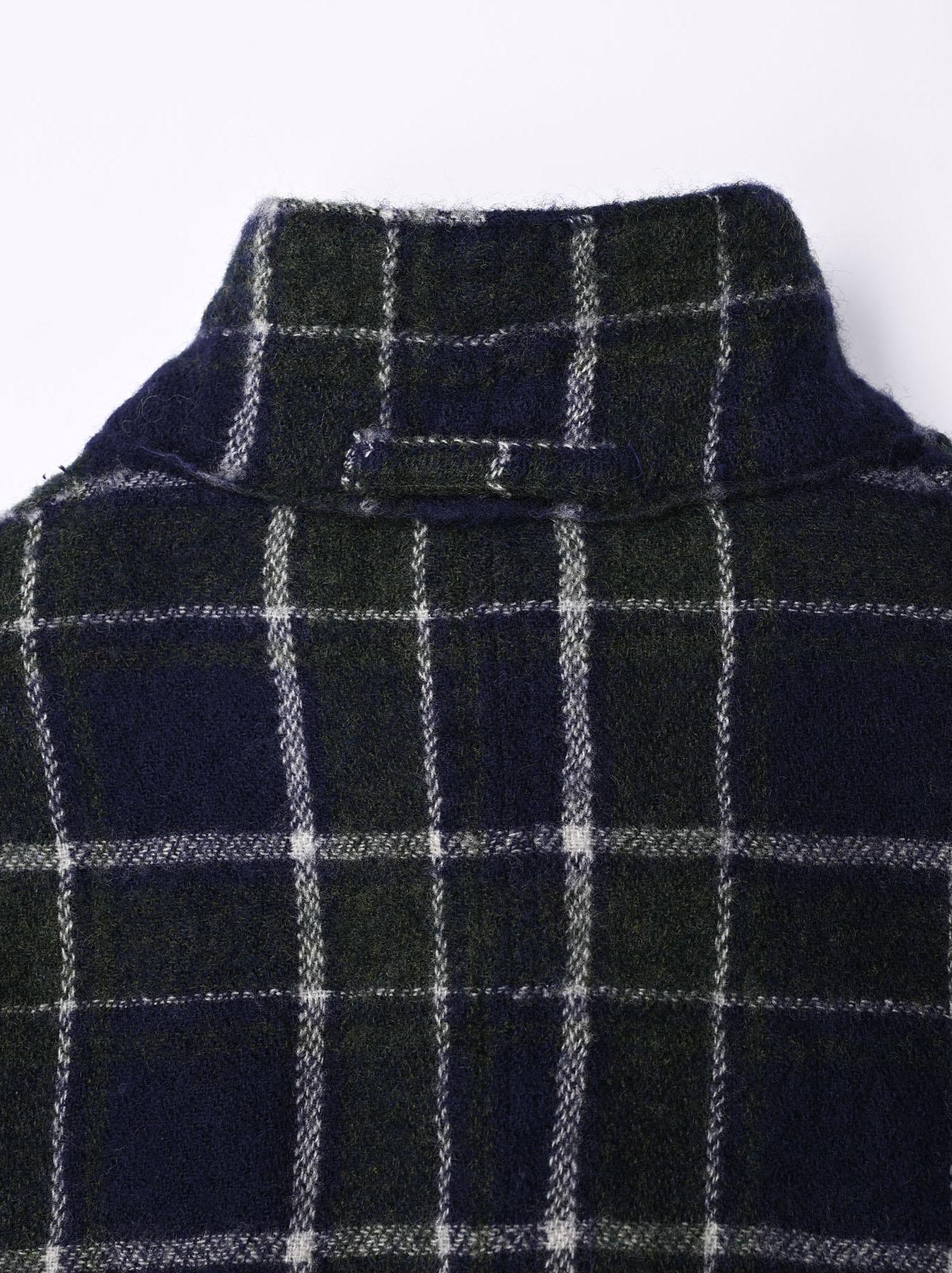 Indian Boiled Merino Check Jacket-9