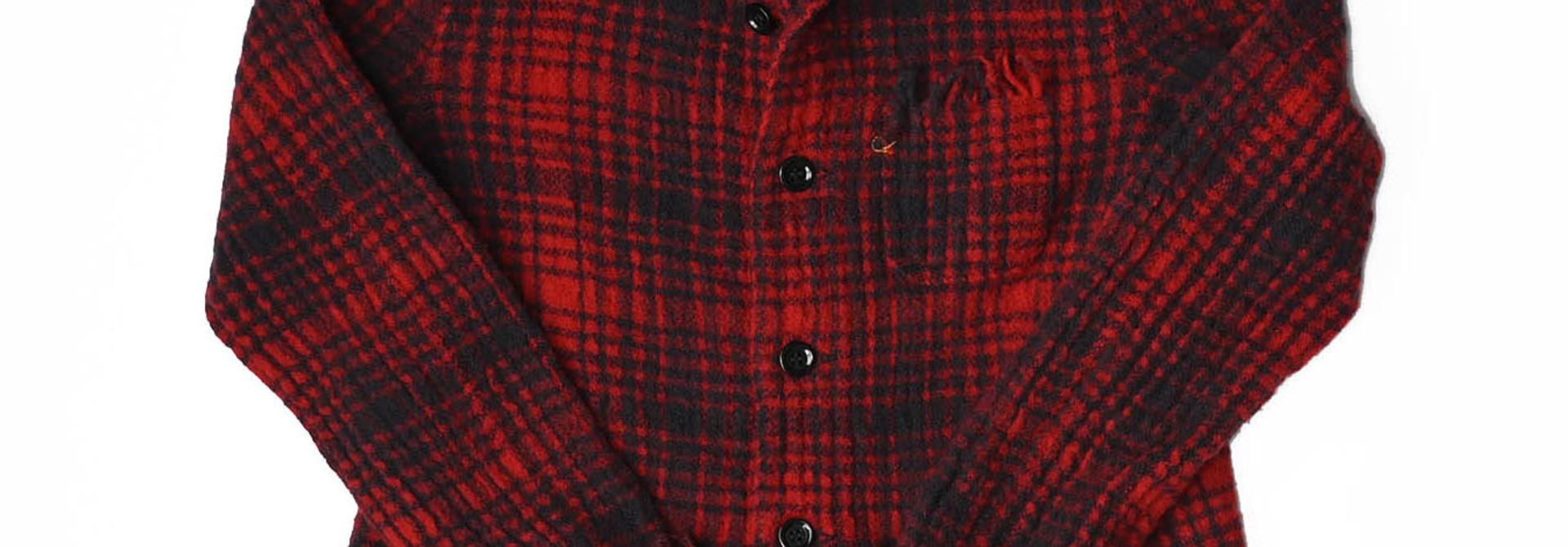 Indian Boiled Merino Check Jacket
