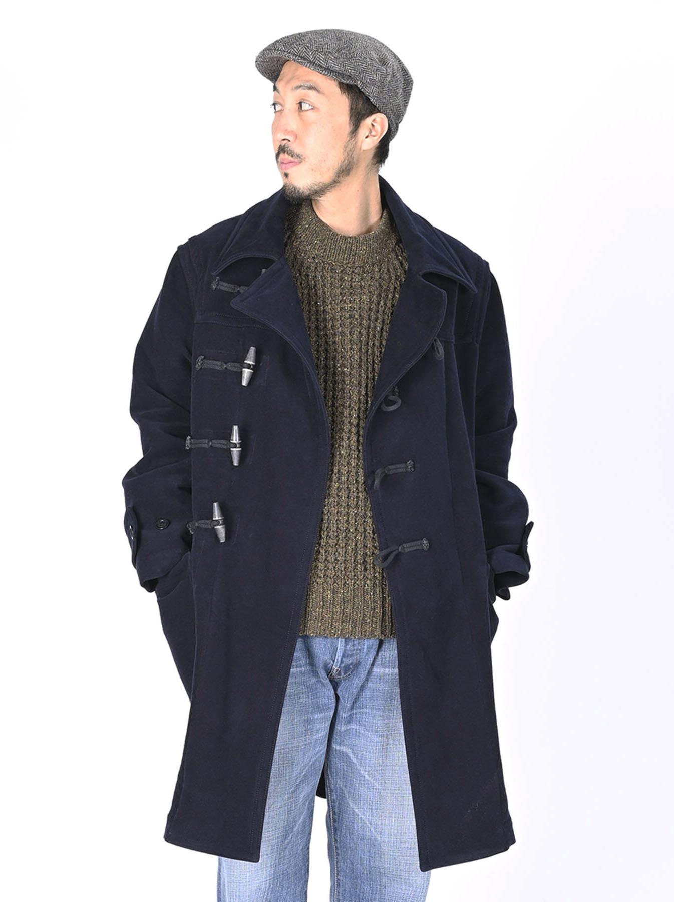 Thick Cotton Flannel Hayama Duffle Coat-10