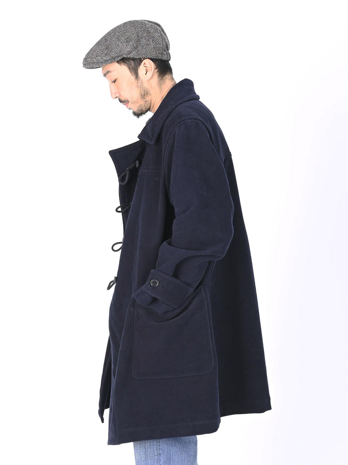 Thick Cotton Flannel Hayama Duffle Coat-11
