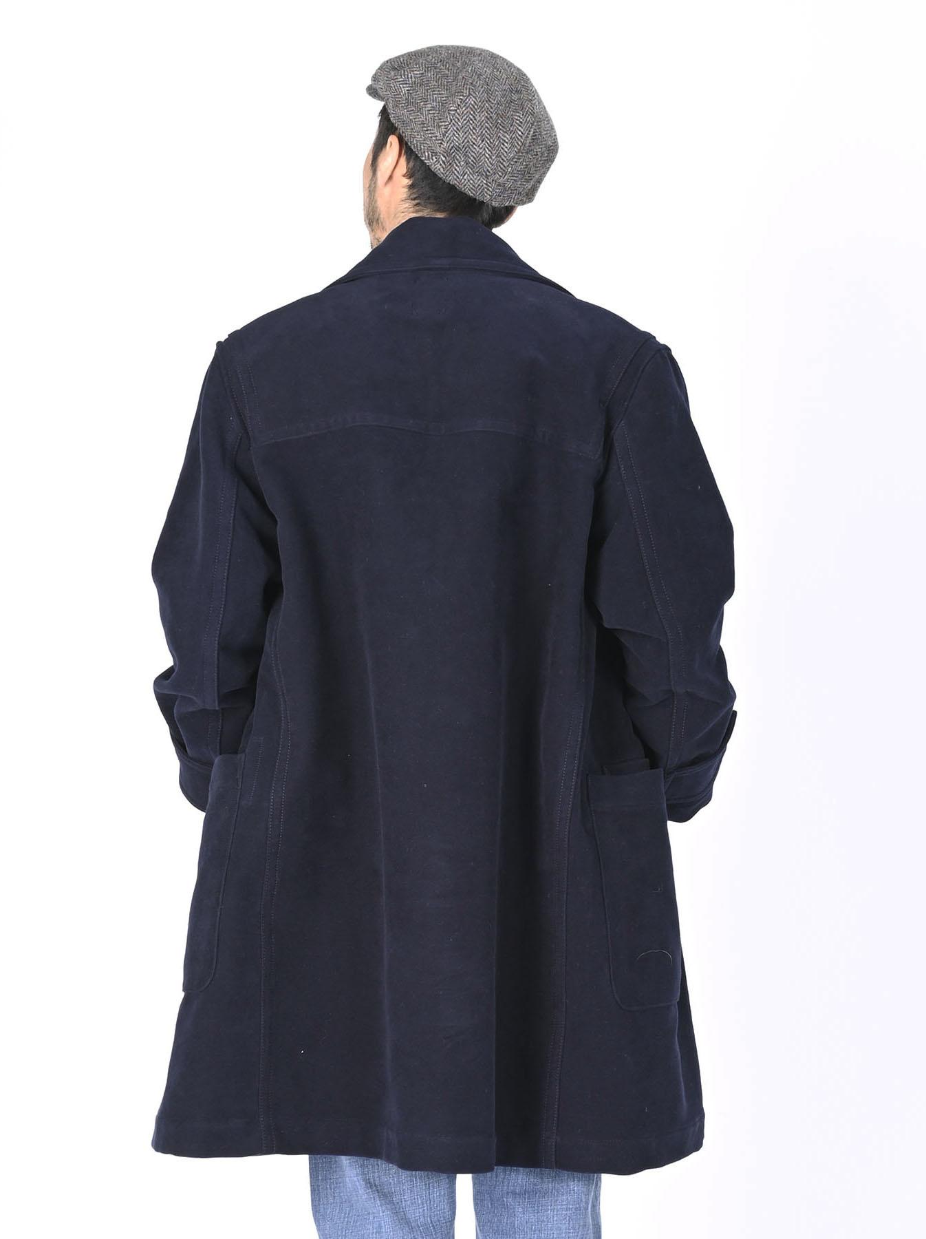 Thick Cotton Flannel Hayama Duffle Coat-12