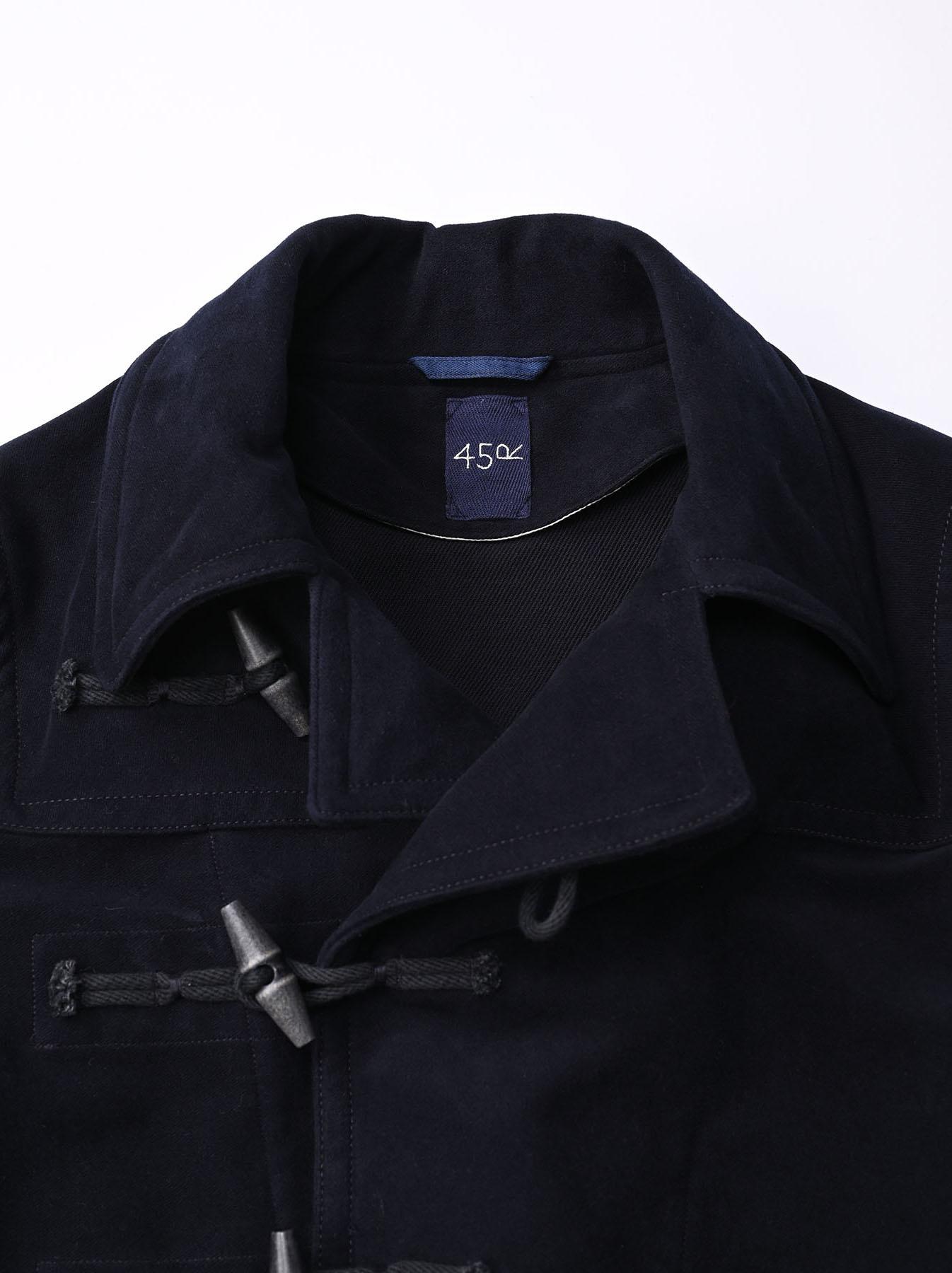 Thick Cotton Flannel Hayama Duffle Coat-4