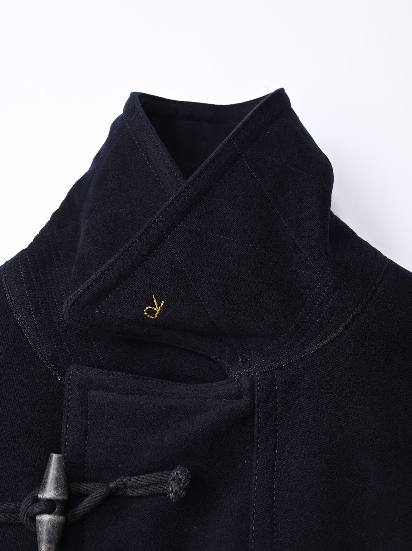 Thick Cotton Flannel Hayama Duffle Coat-5
