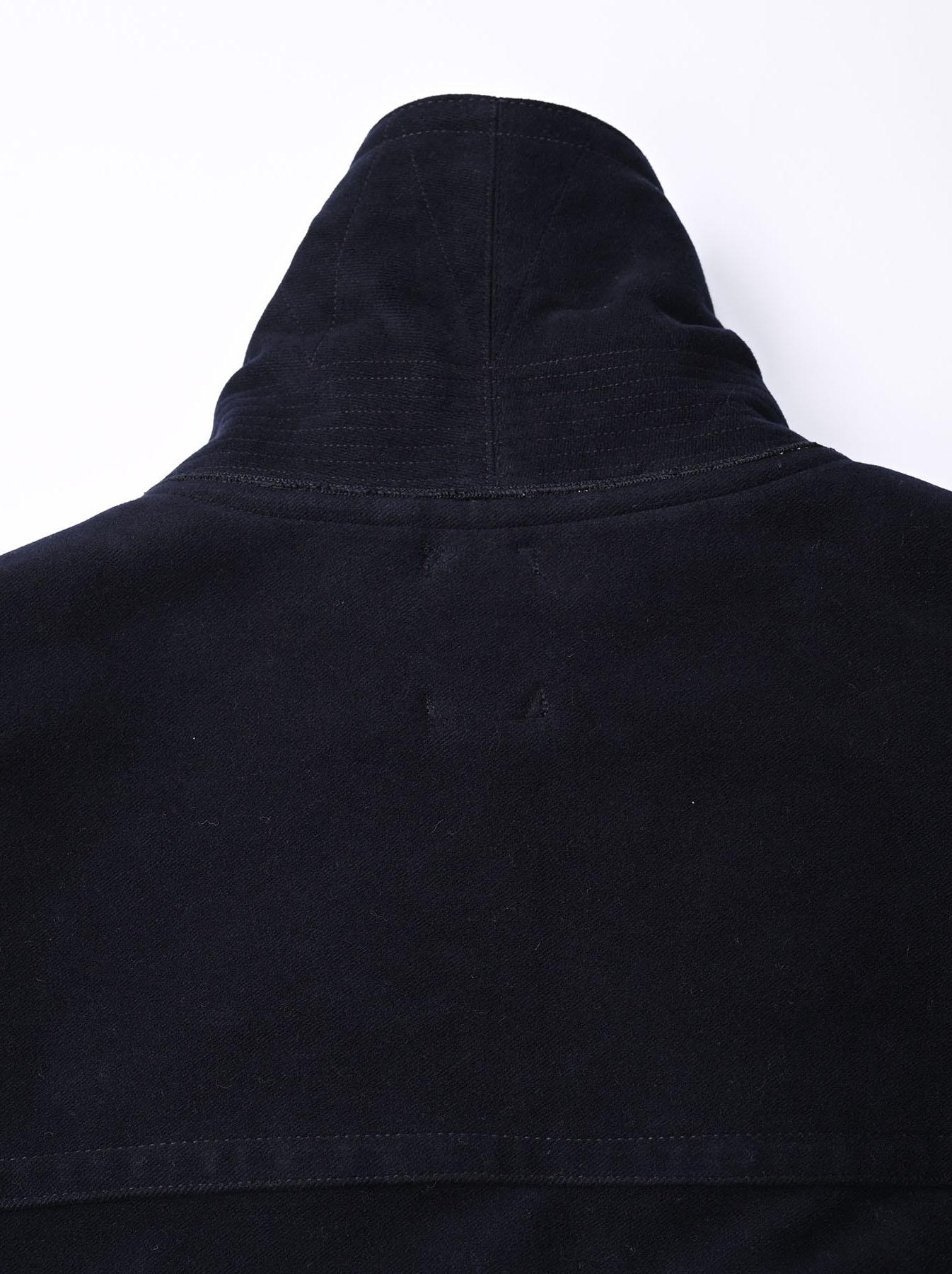 Thick Cotton Flannel Hayama Duffle Coat-6