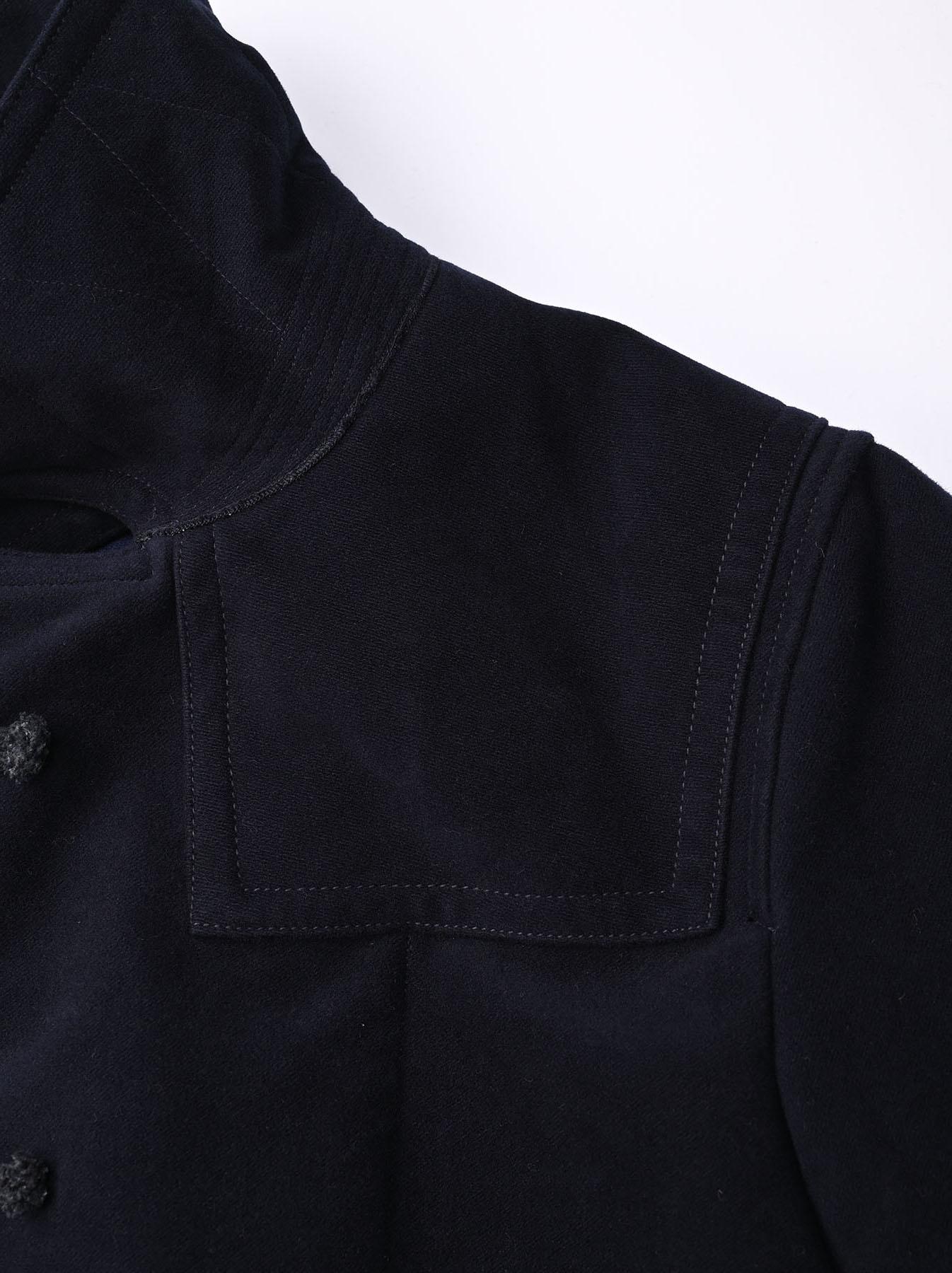 Thick Cotton Flannel Hayama Duffle Coat-7