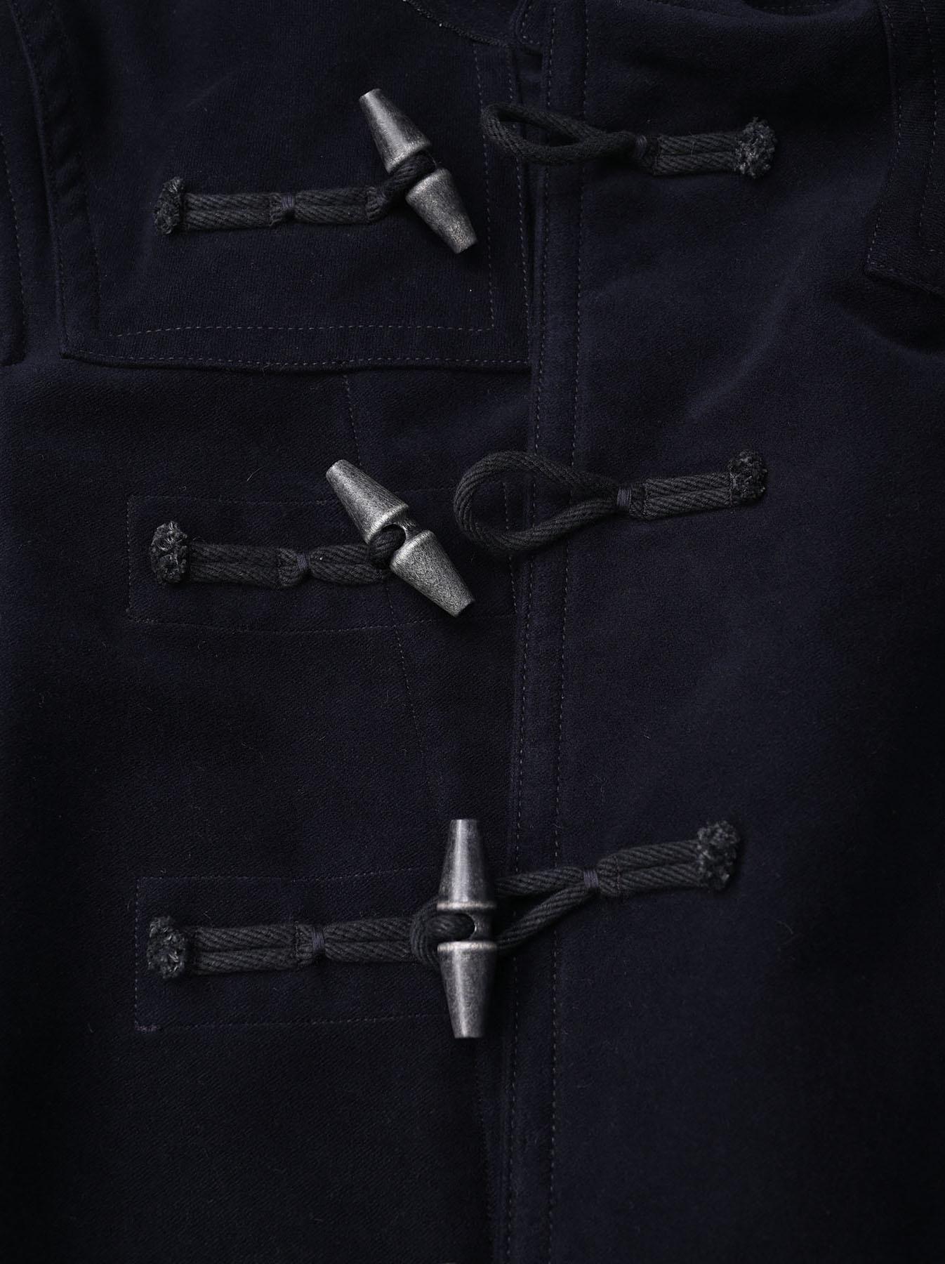 Thick Cotton Flannel Hayama Duffle Coat-8