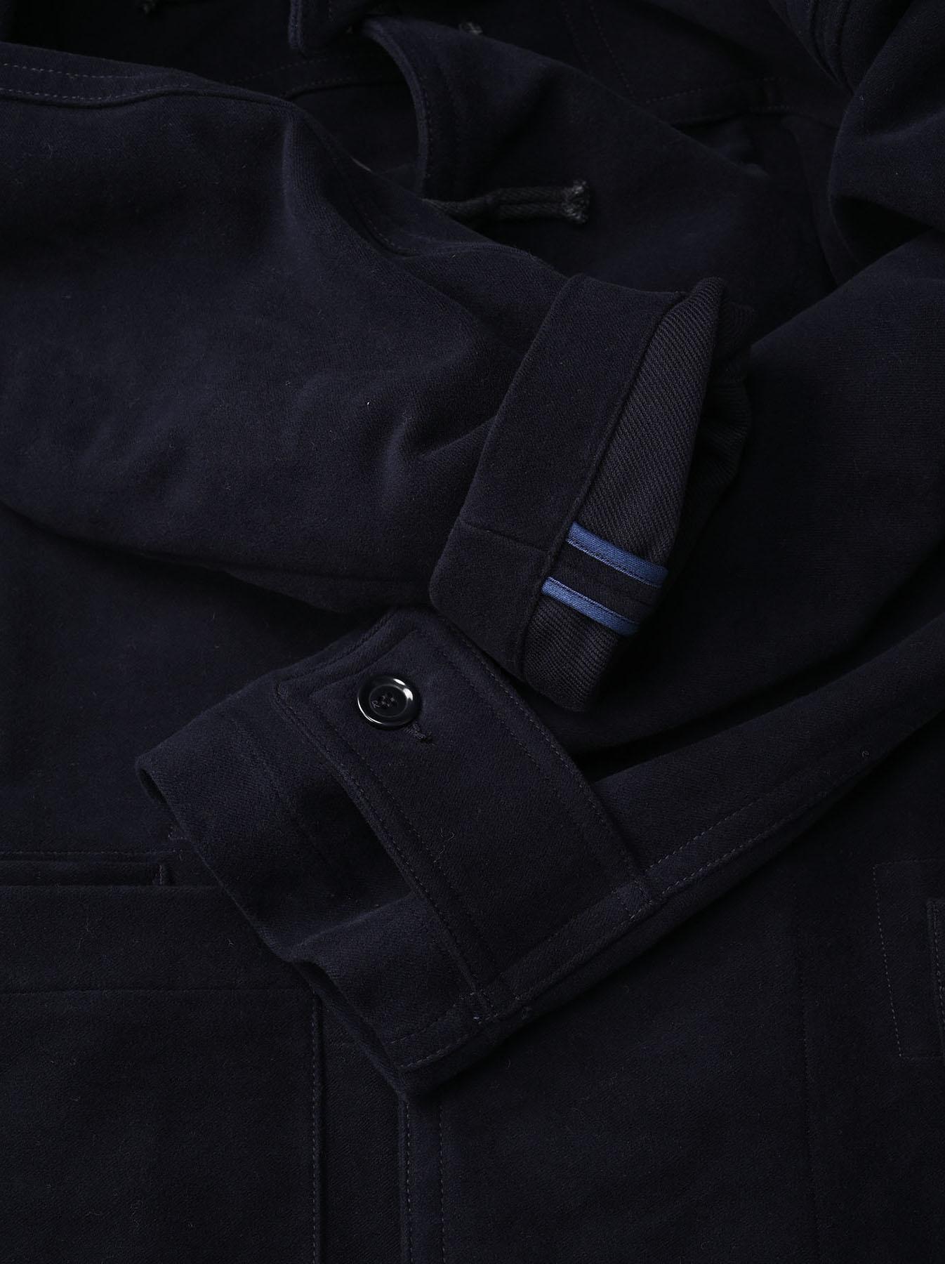Thick Cotton Flannel Hayama Duffle Coat-9