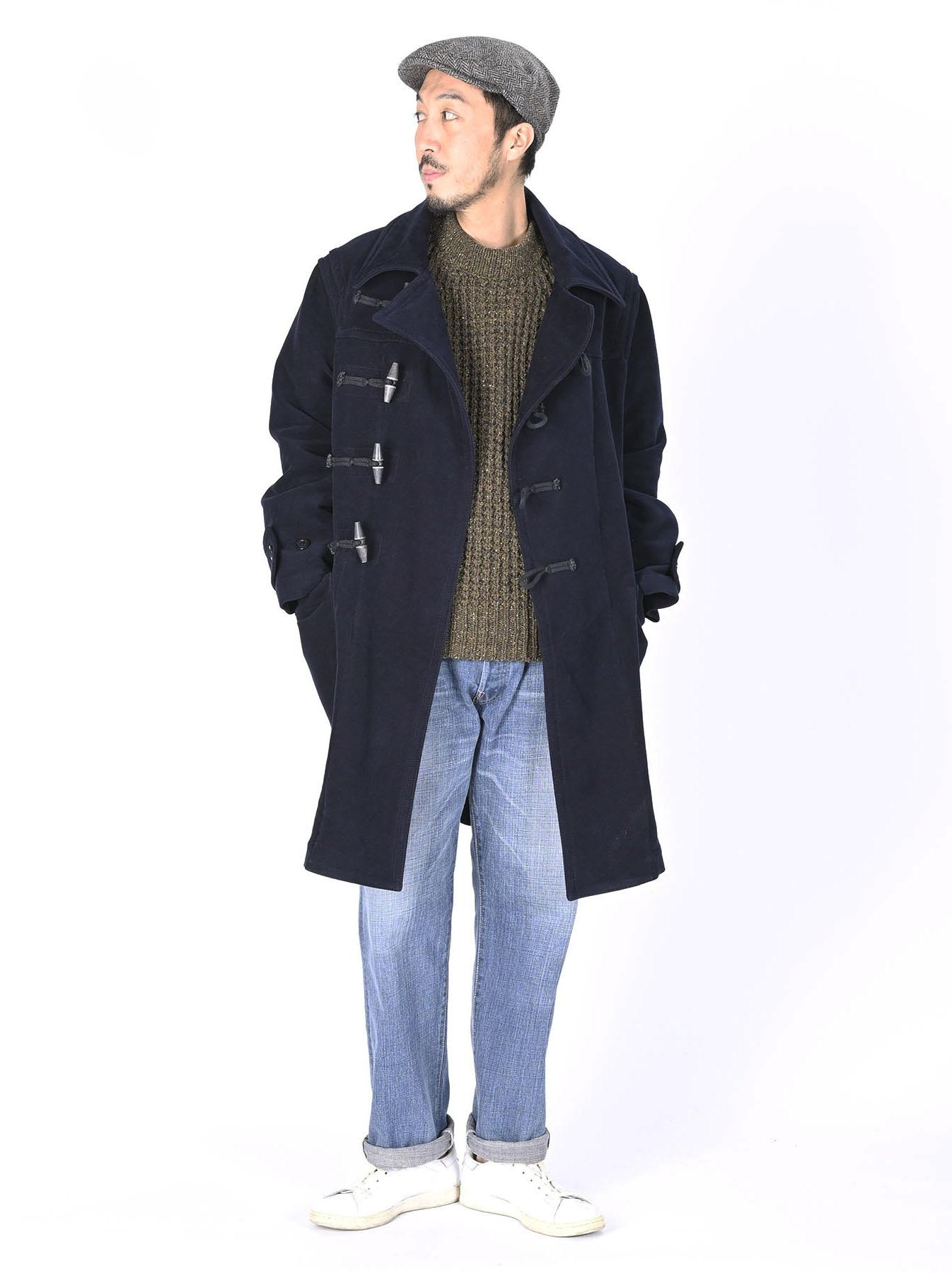 Thick Cotton Flannel Hayama Duffle Coat-2