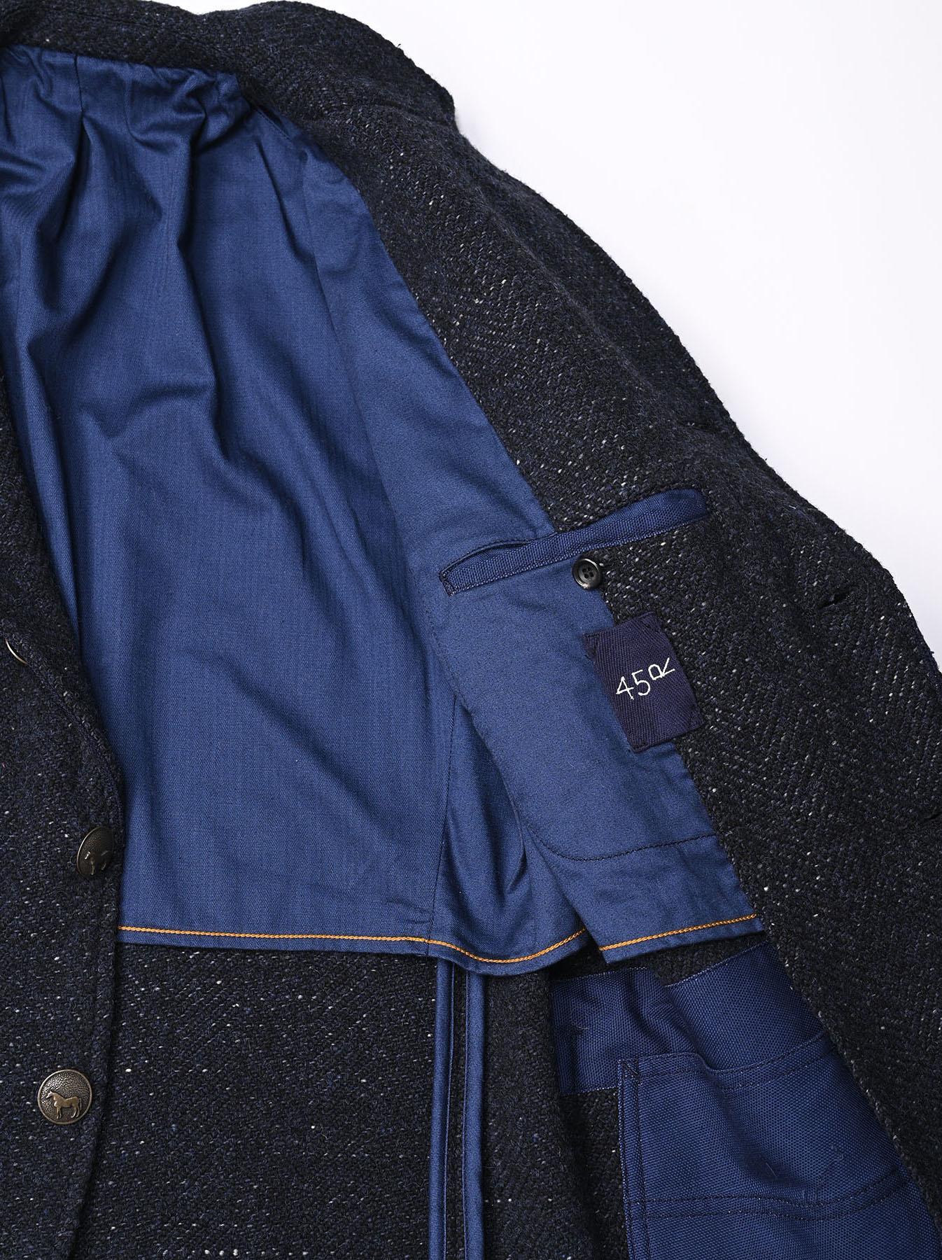 Indigo Tweed Melton Asama Jacket-8