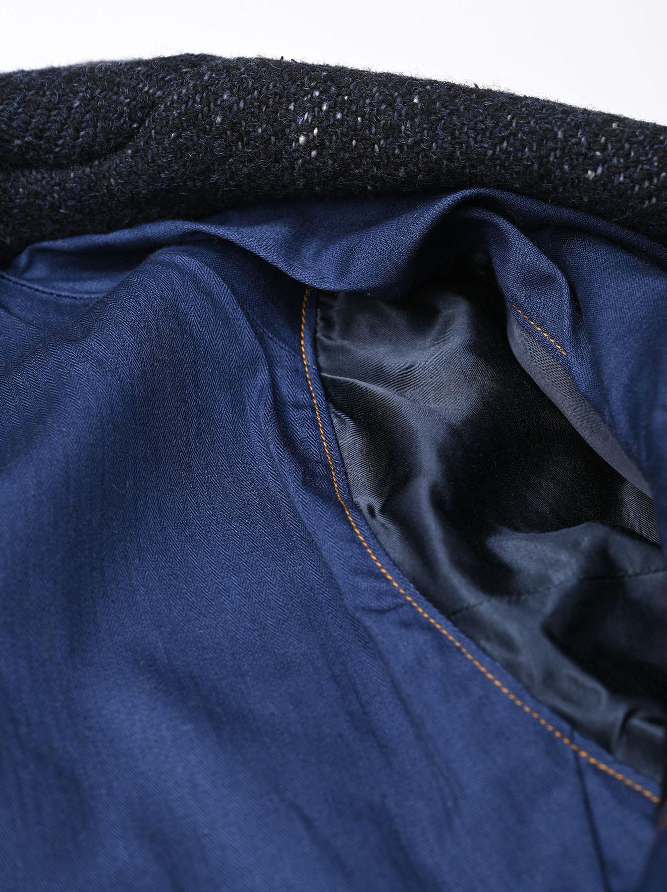 Indigo Tweed Melton Asama Jacket-9