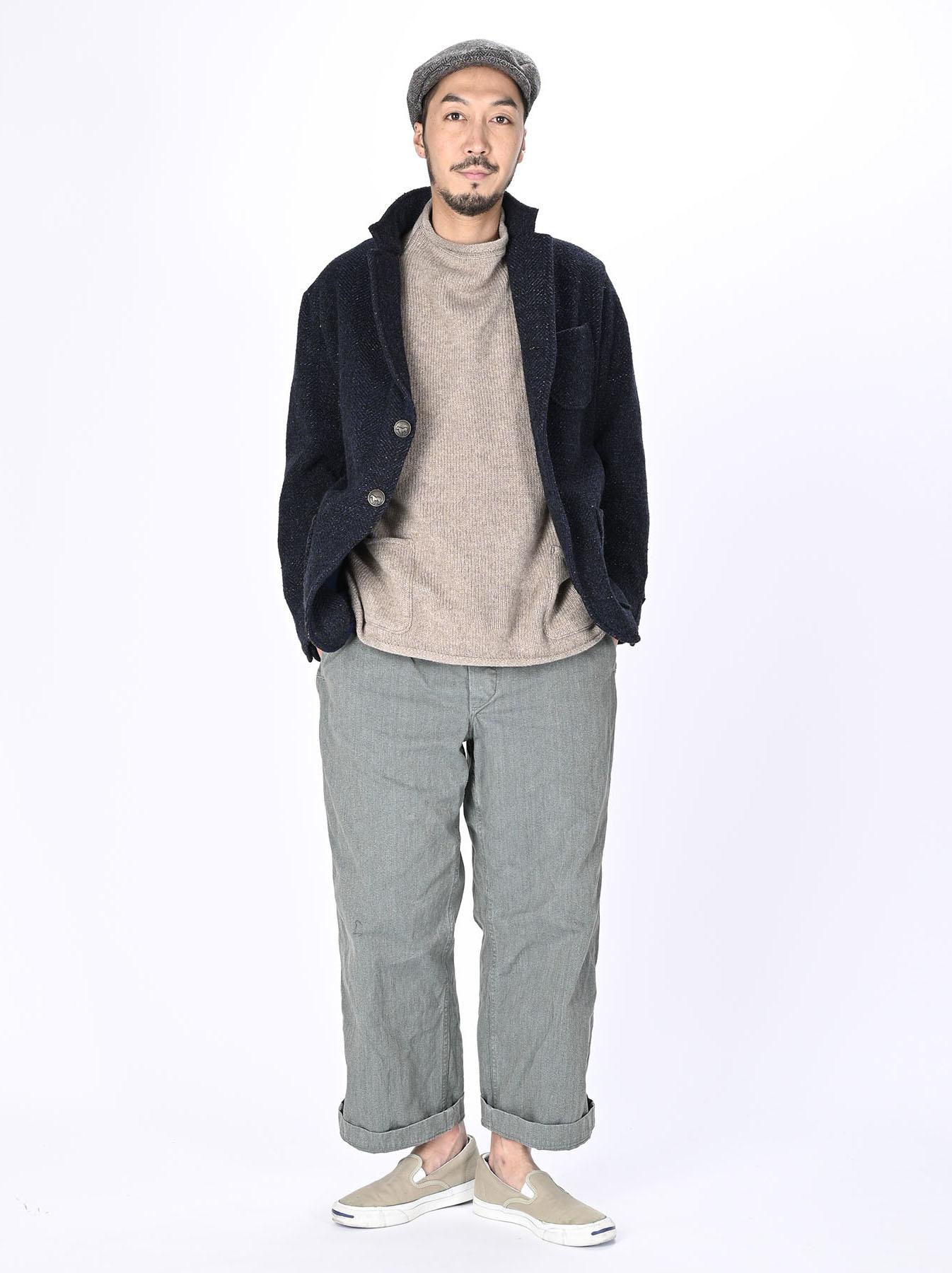 Indigo Tweed Melton Asama Jacket-2