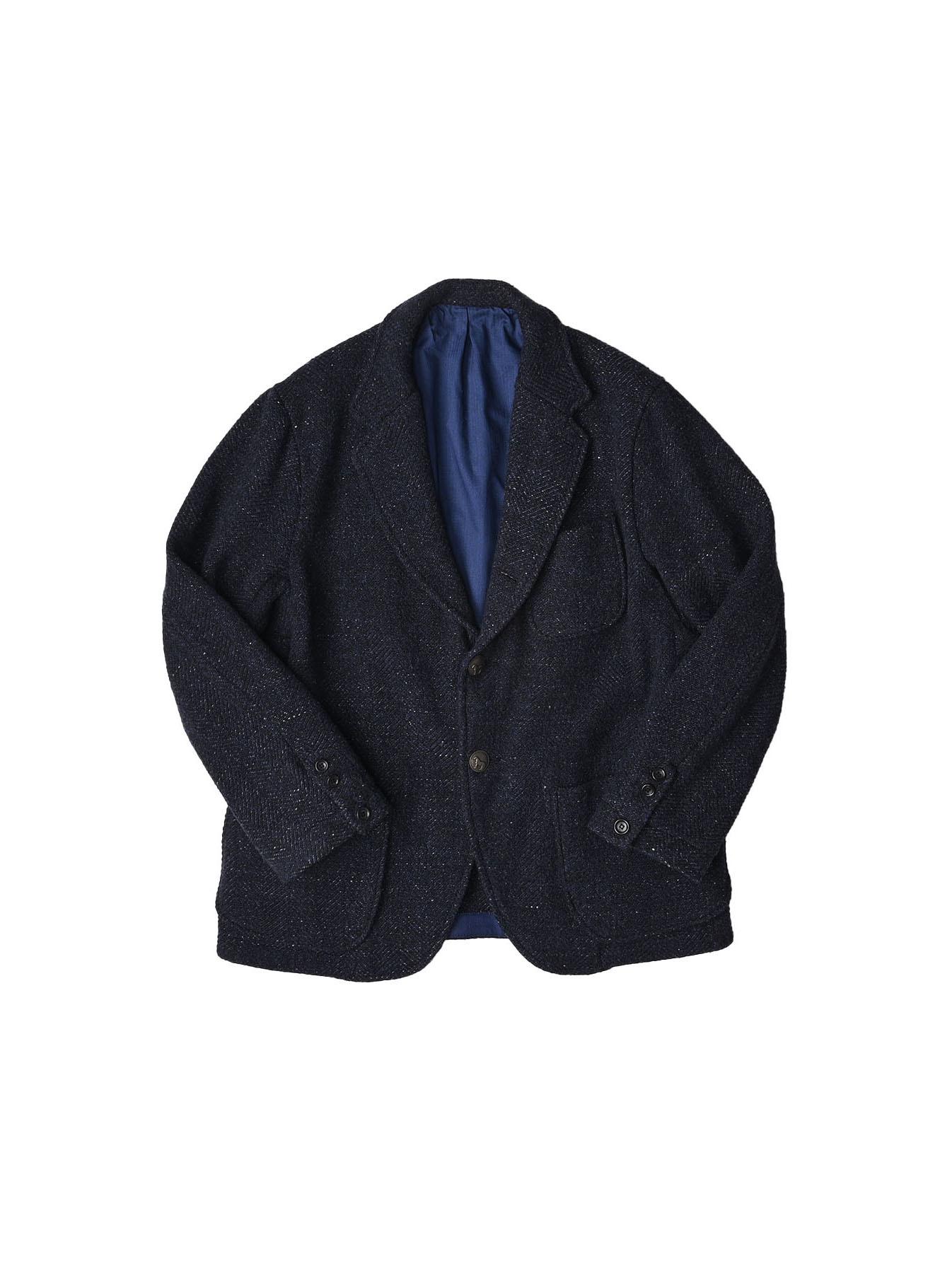 Indigo Tweed Melton Asama Jacket-1