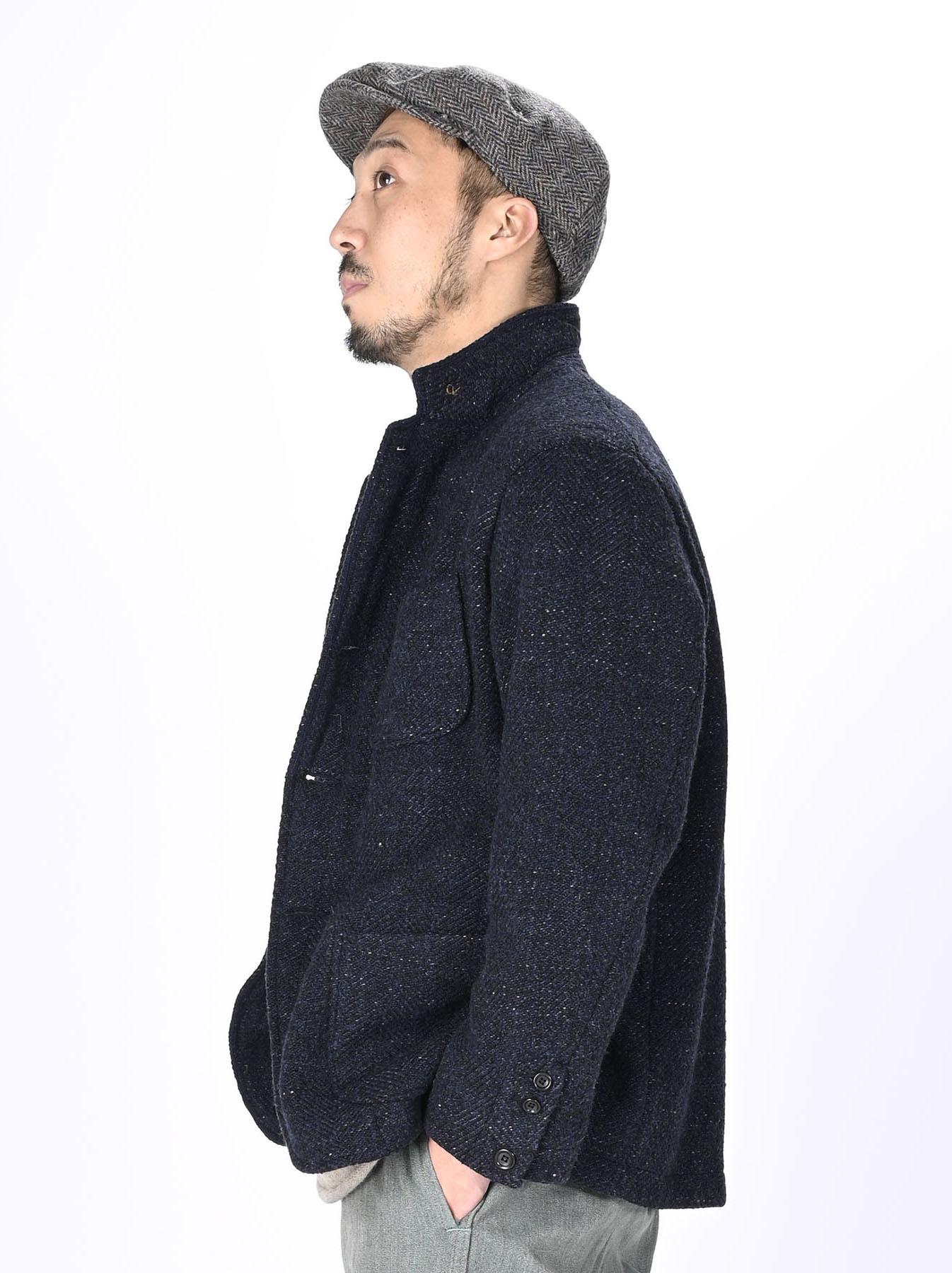 Indigo Tweed Melton Asama Jacket-11