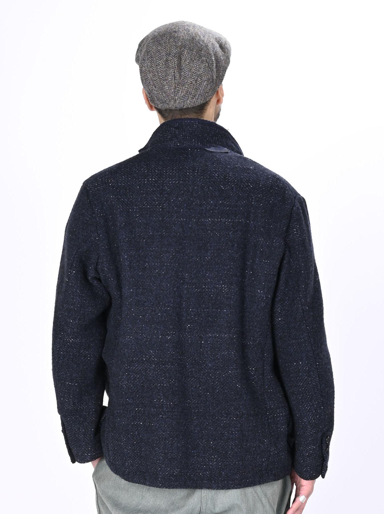 Indigo Tweed Melton Asama Jacket-12