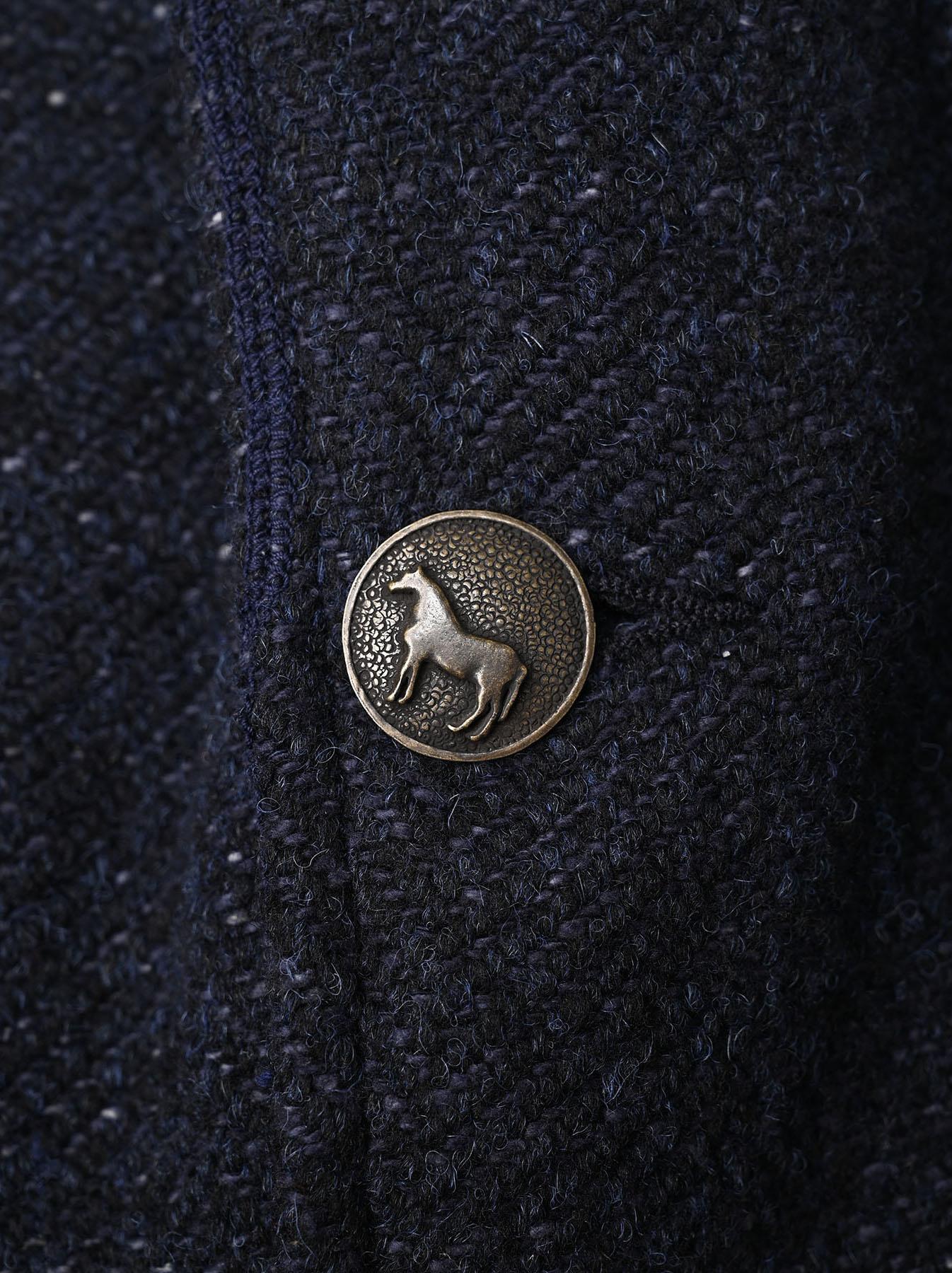 Indigo Tweed Melton Asama Jacket-6