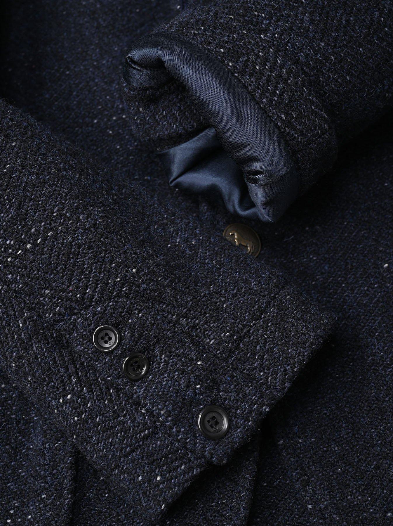 Indigo Tweed Melton Asama Jacket-7