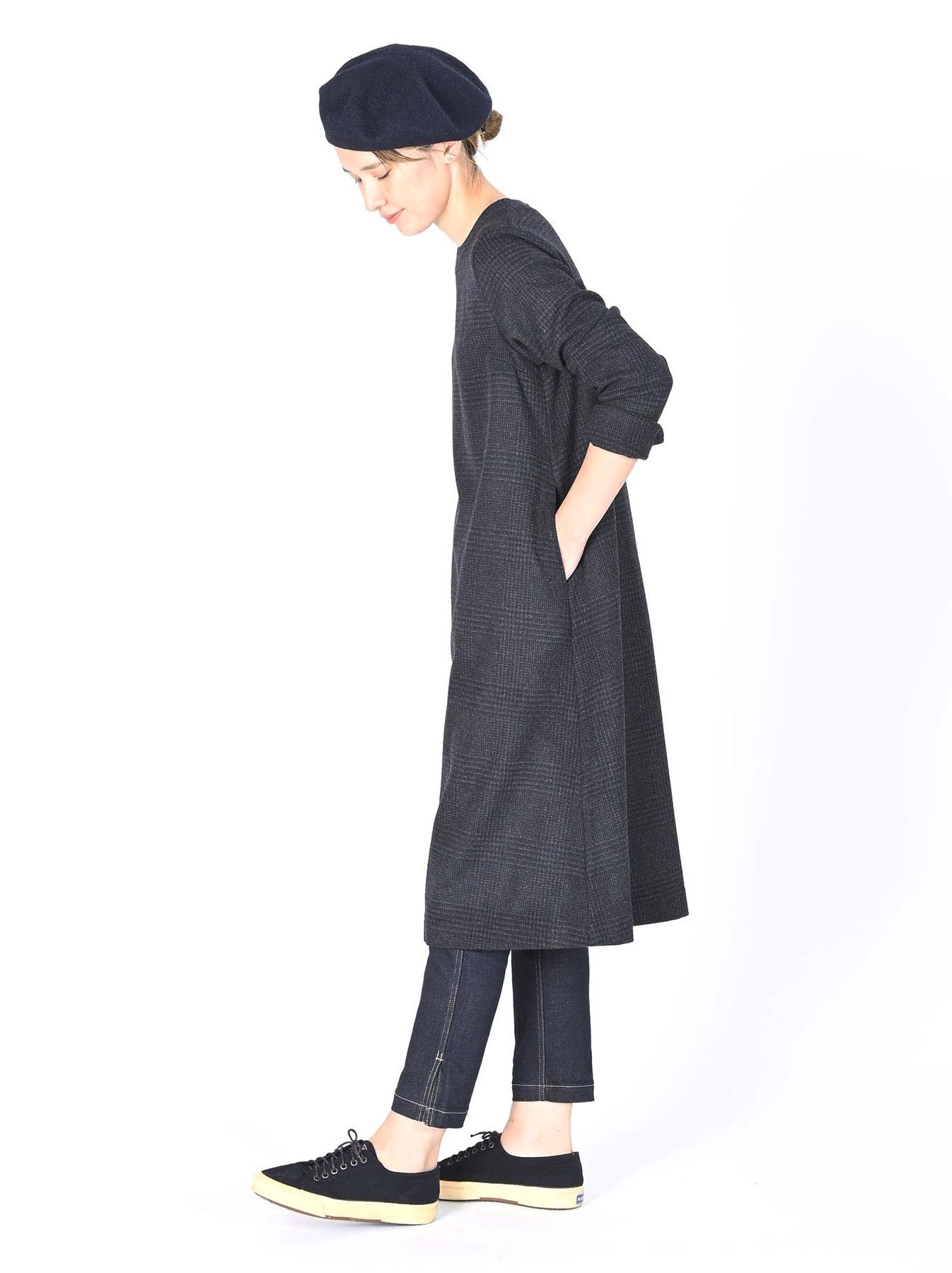 Wool Tweed Stretch Dress-10