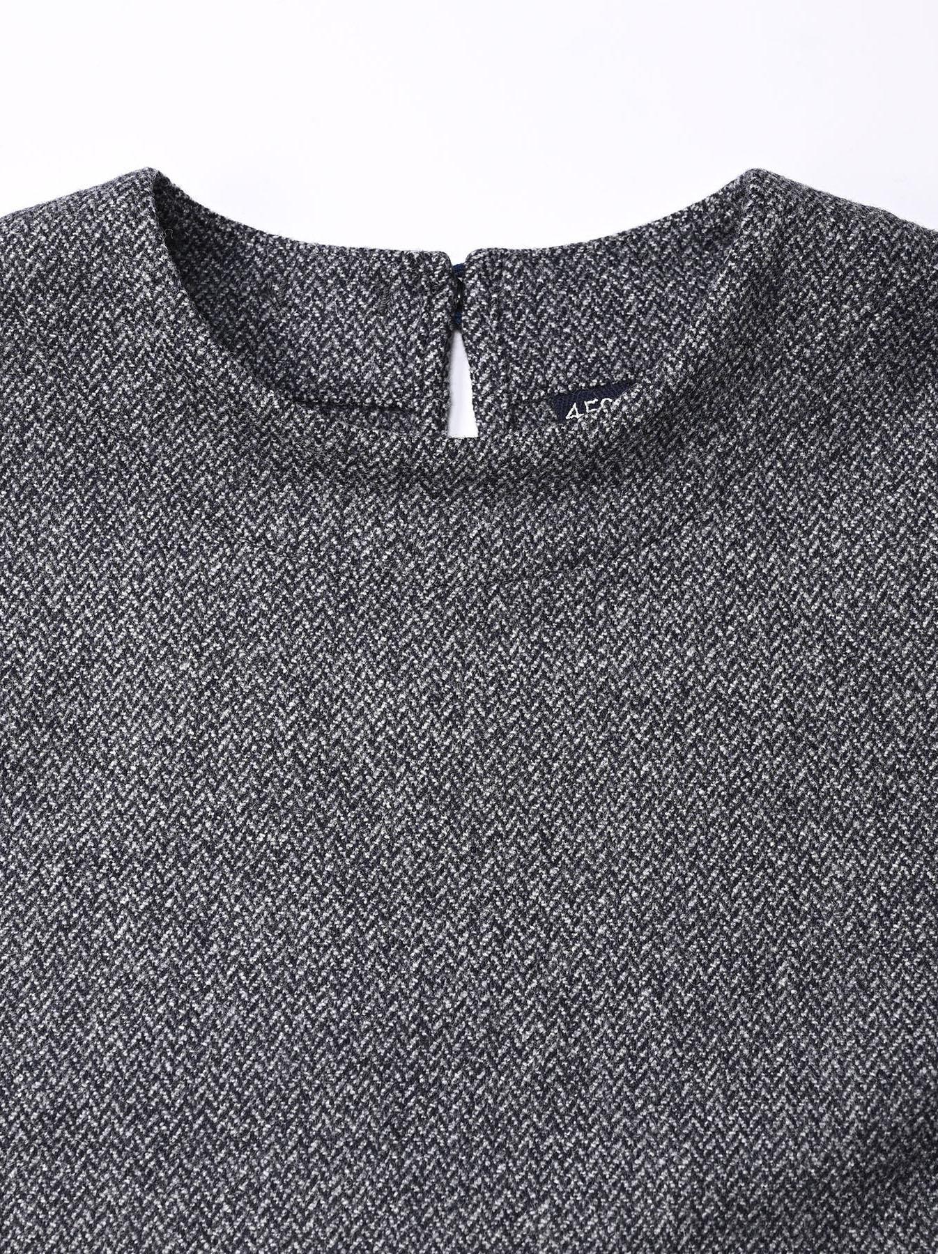 Wool Tweed Stretch Dress-5