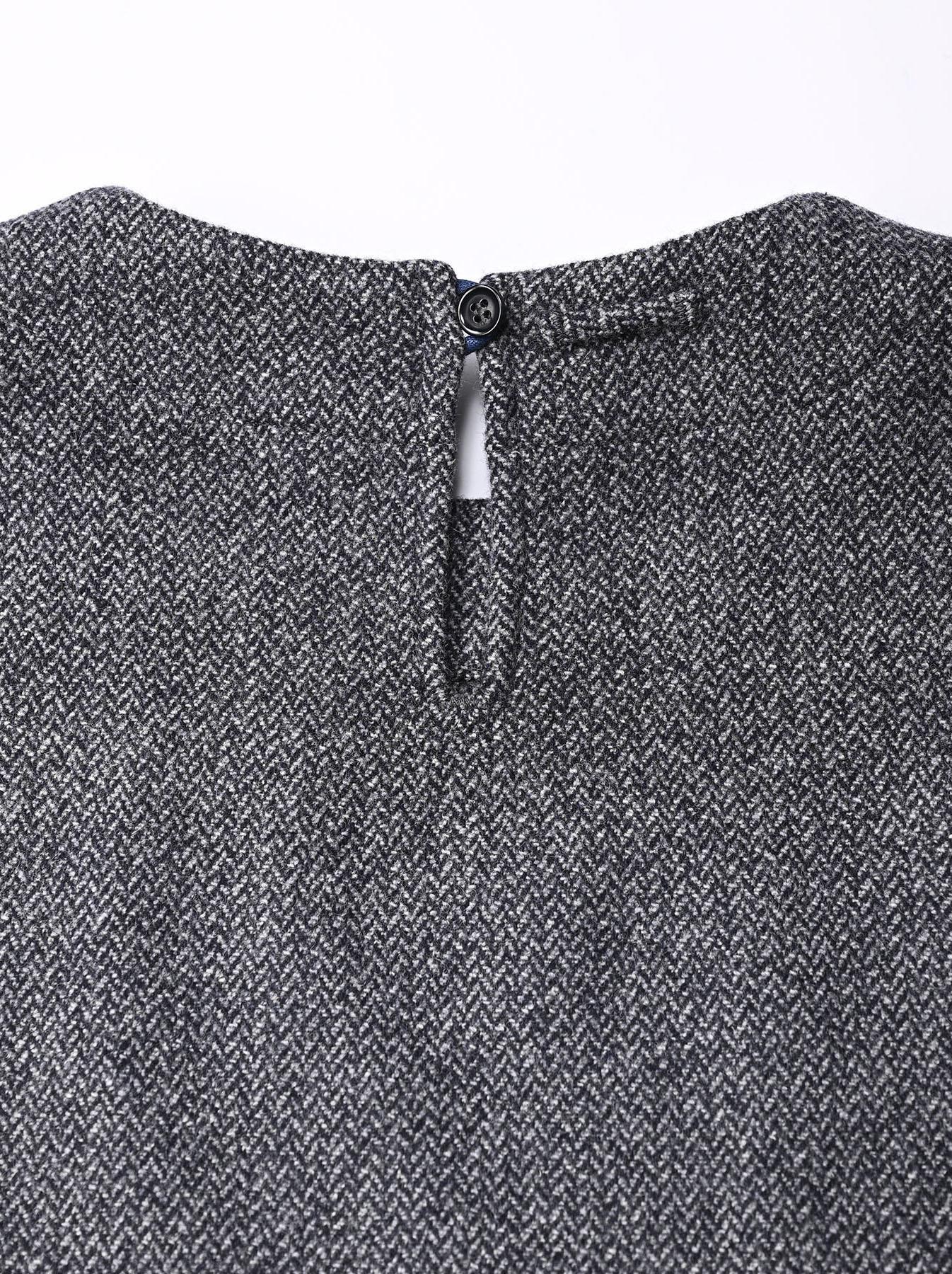 Wool Tweed Stretch Dress-6