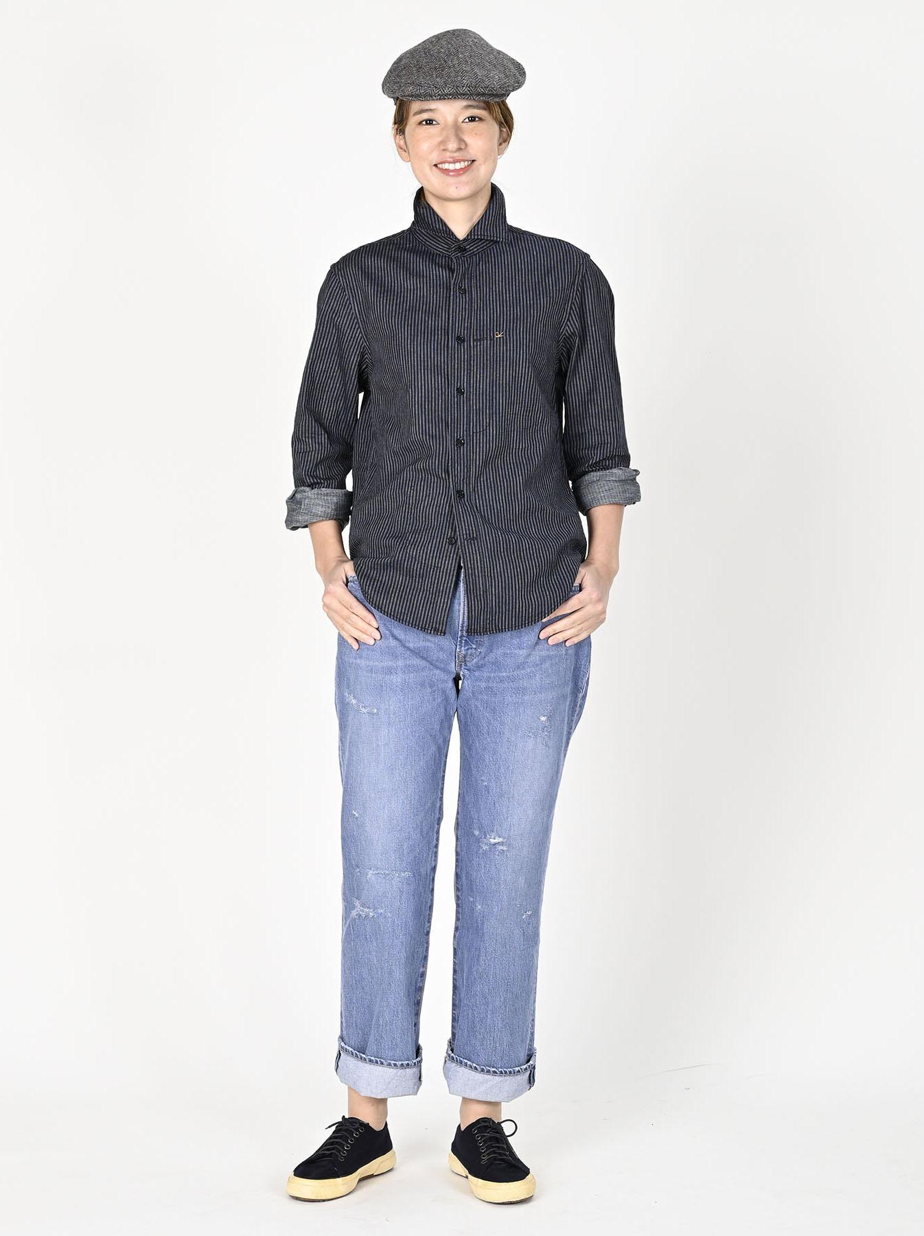 Indigo Double Cloth 908 Regular Shirt-6