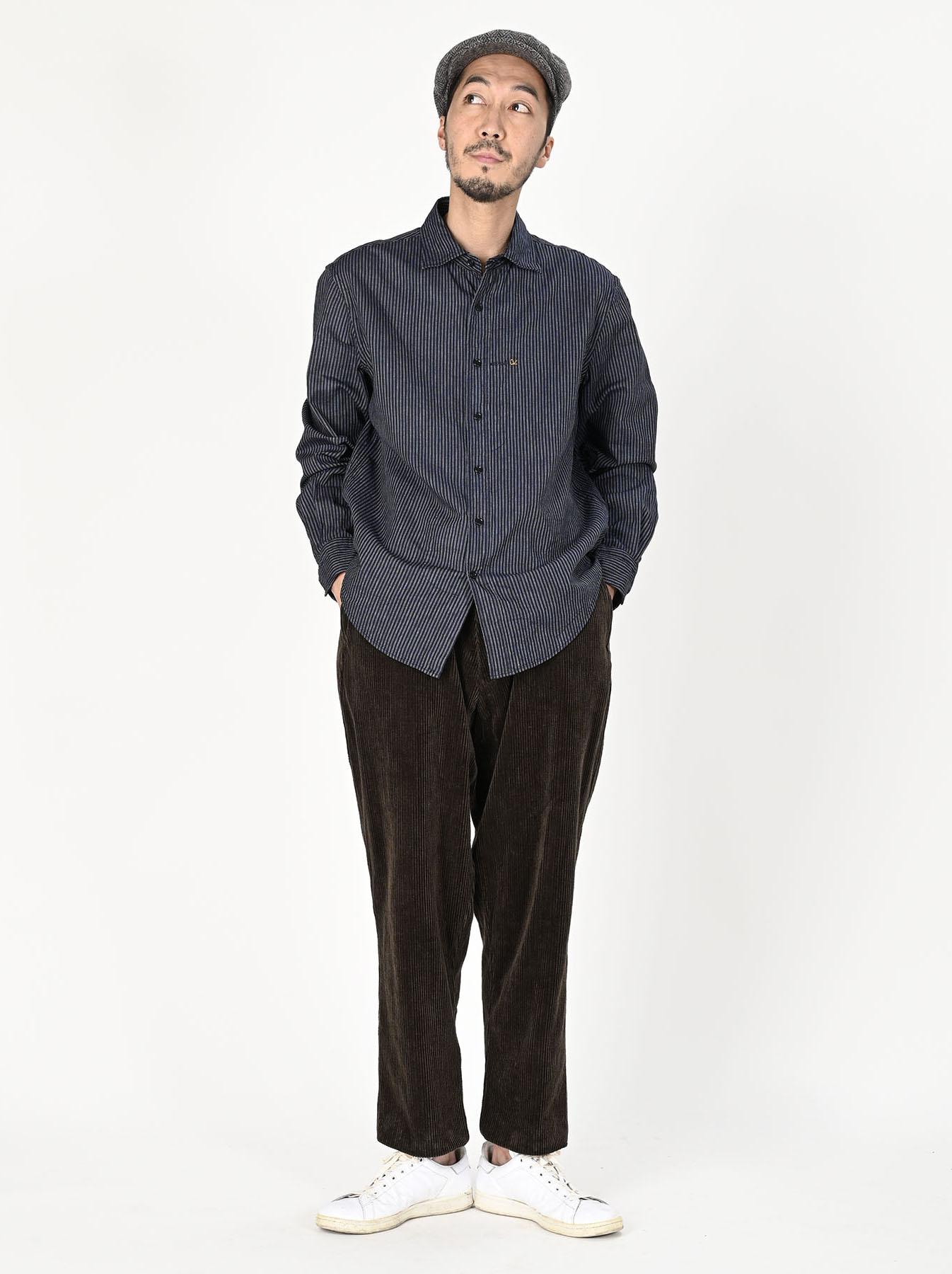 Indigo Double Cloth 908 Regular Shirt-2