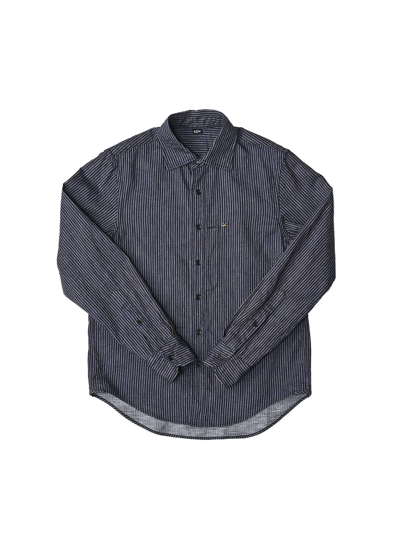 Indigo Double Cloth 908 Regular Shirt-10